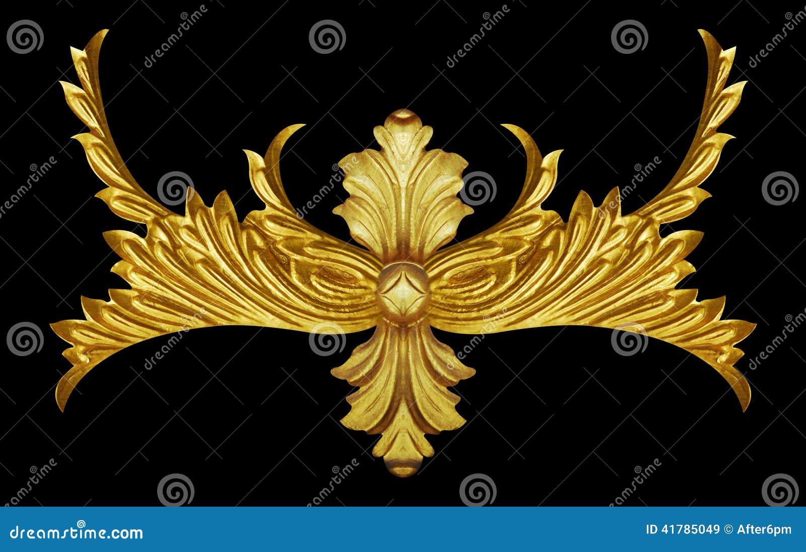 Элементы орнамента, винтажное золото флористическое