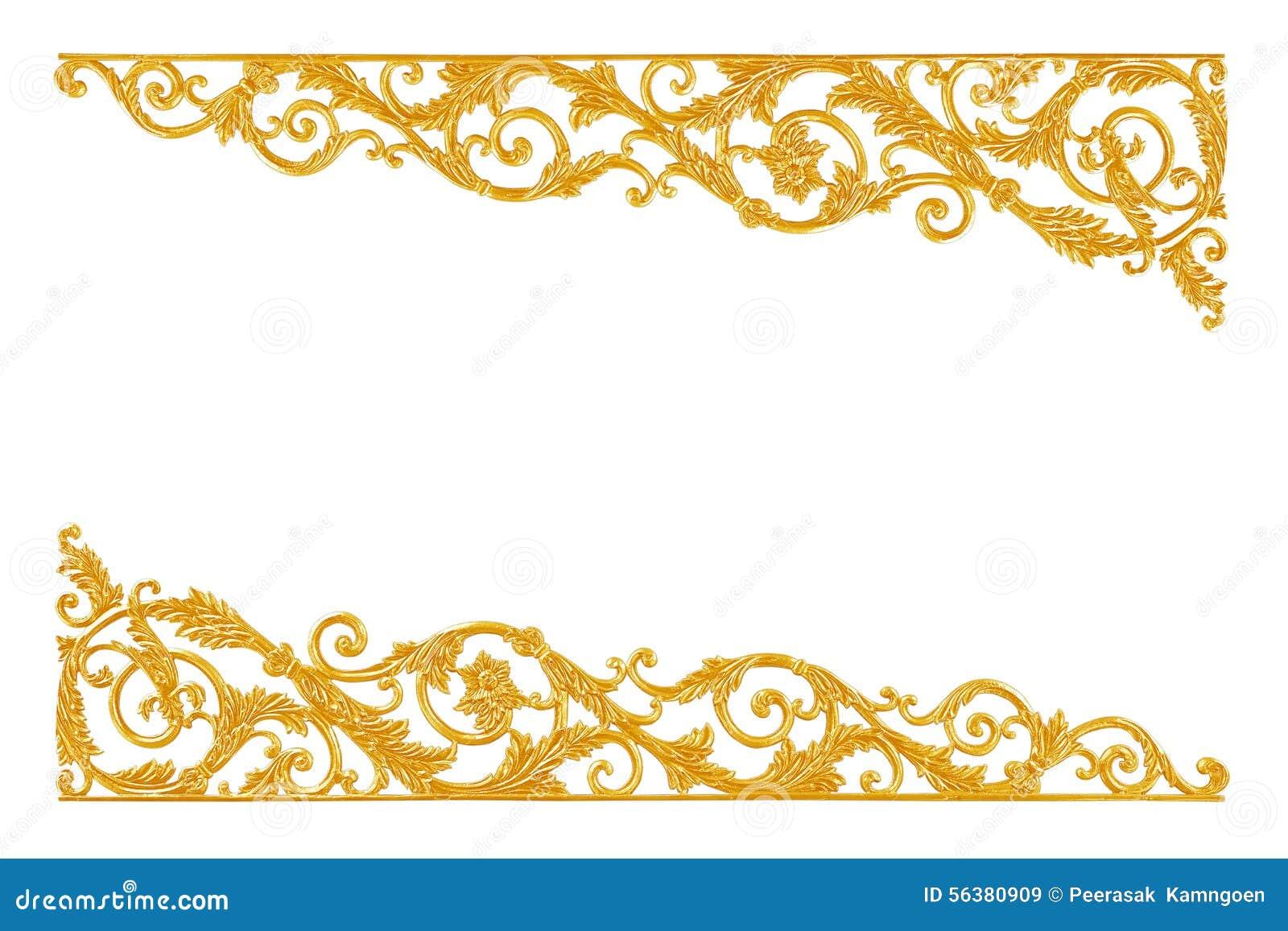 Элементы орнамента, дизайны винтажного золота флористические