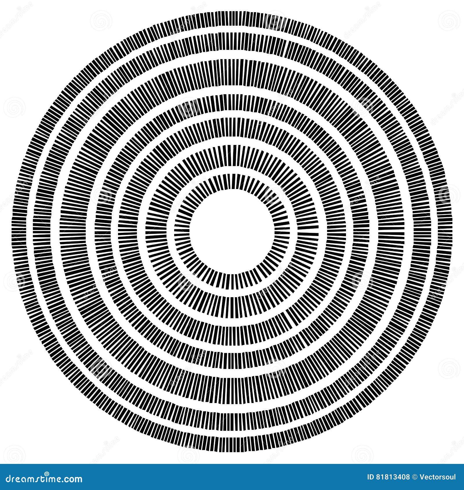 Элемент концентрического круга сделанный прямоугольников Геометрический круг d
