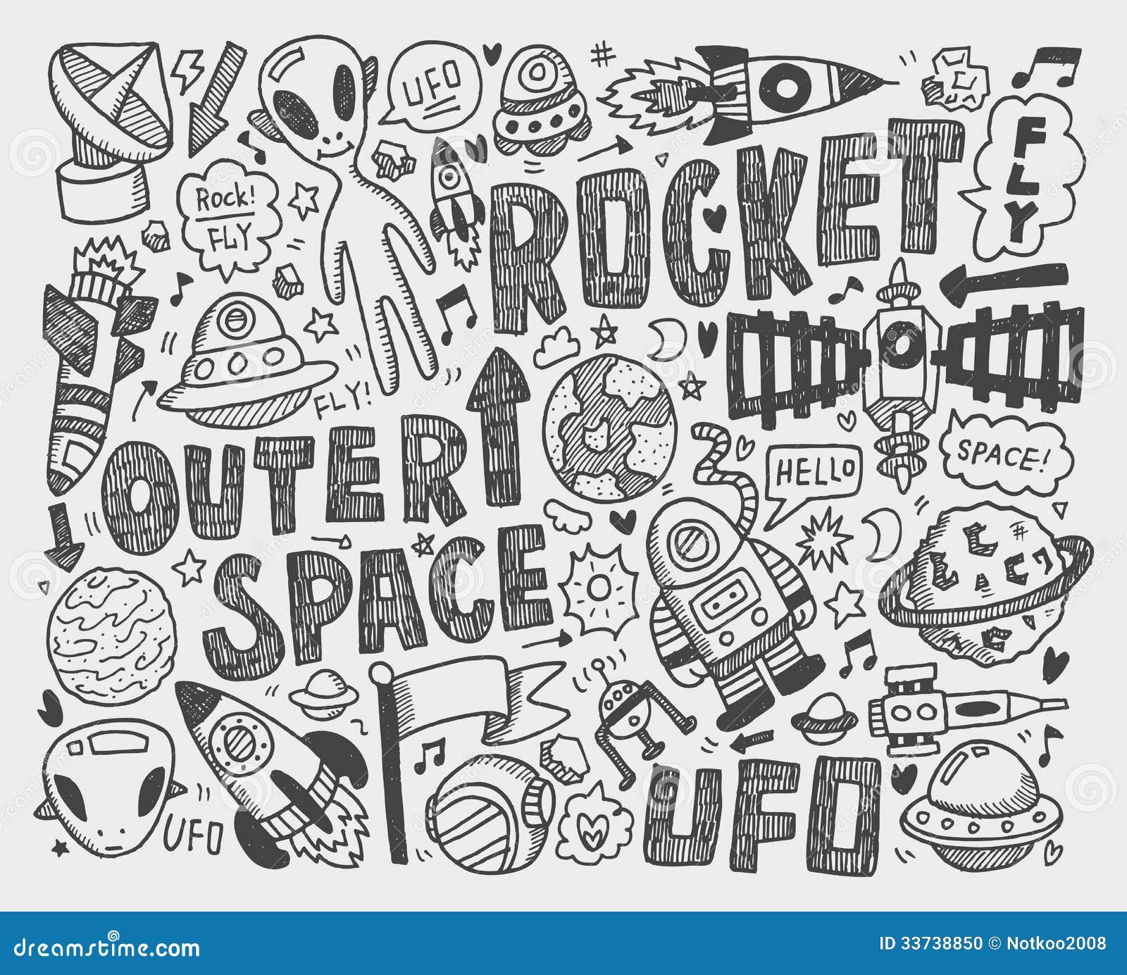 Элемент космоса Doodle