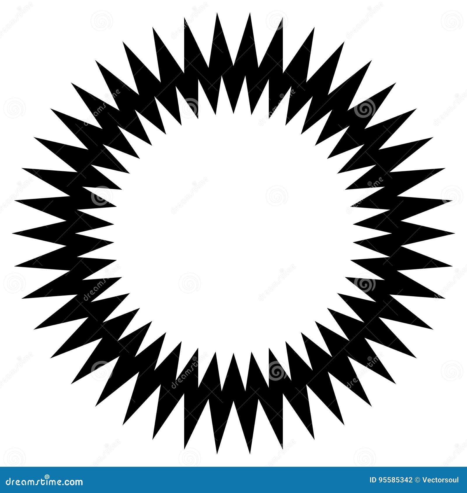 Элемент круга зигзага нервный Абстрактный monochrome круг