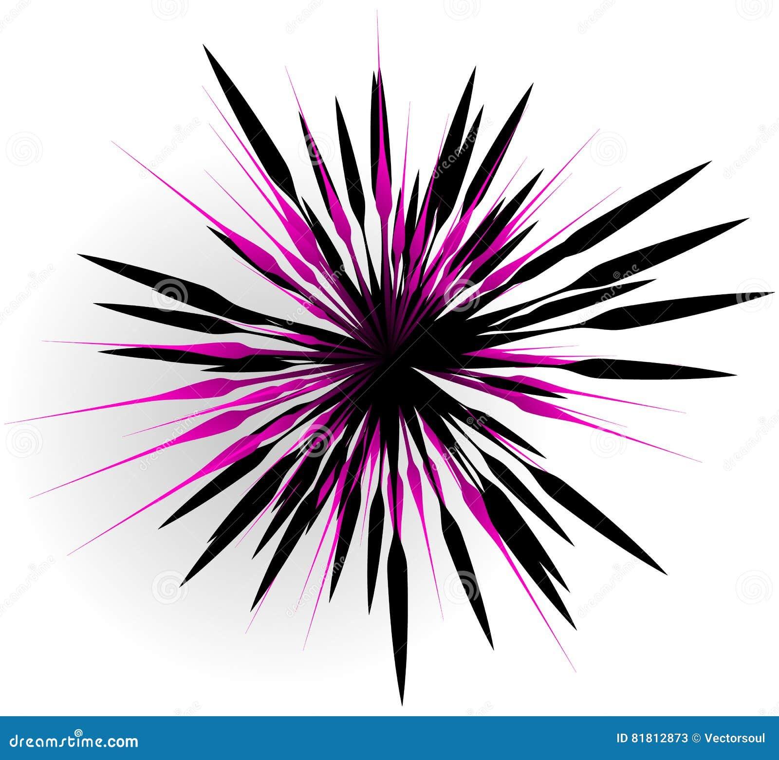 Элемент с случайными линиями лучами излучая Форма взрыва конспекта
