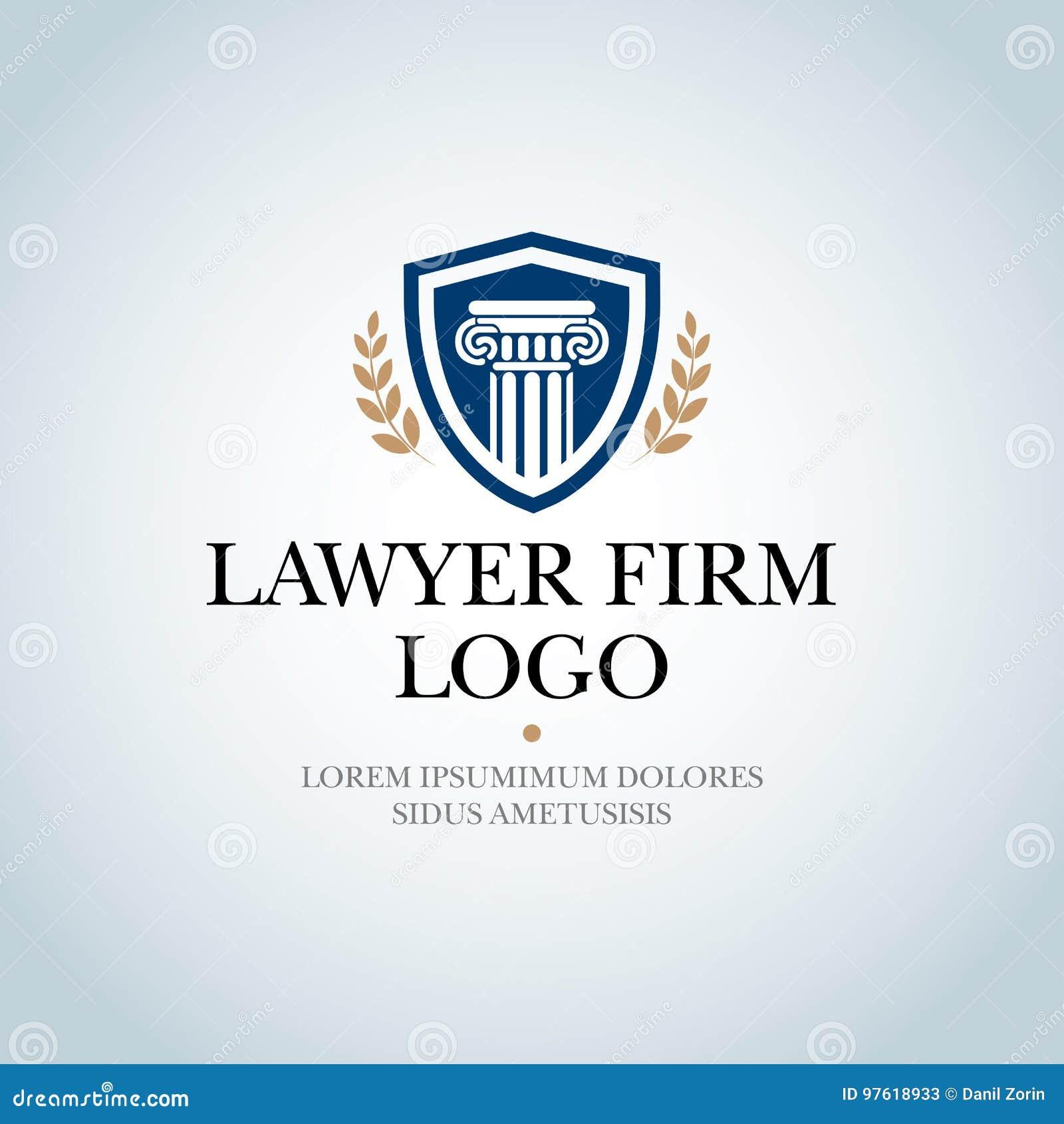 Юридическая фирма, юридический офис, обслуживания юриста, изолировала шаблон логотипа вектора