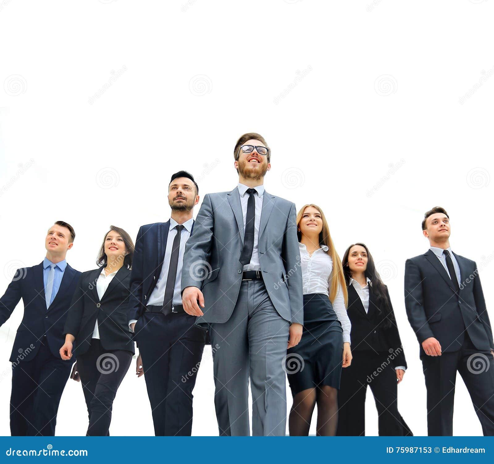 люди бизнес-группы Изолировано над белой предпосылкой