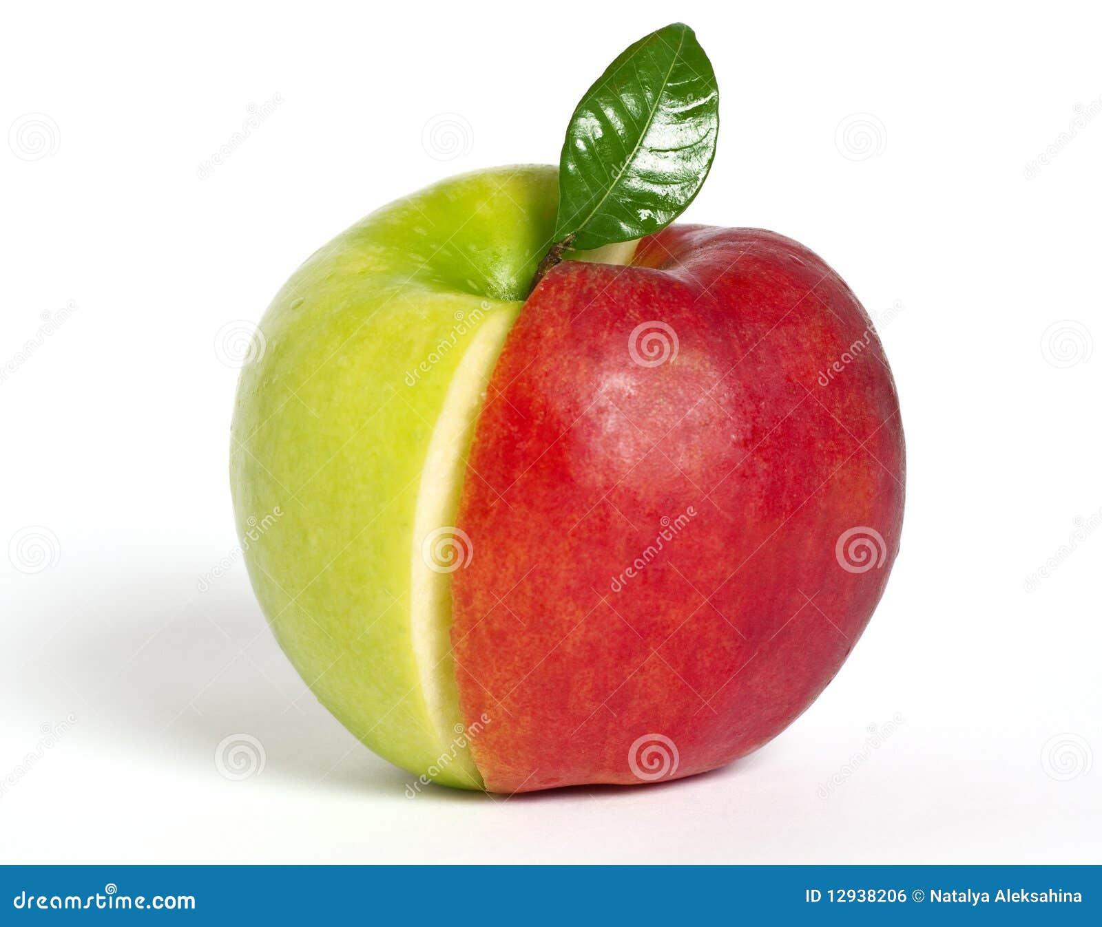 яблоко - зеленый красный цвет