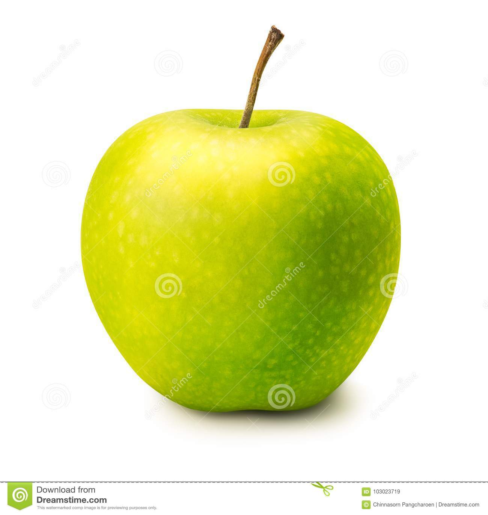 яблоко - изолированный зеленый цвет