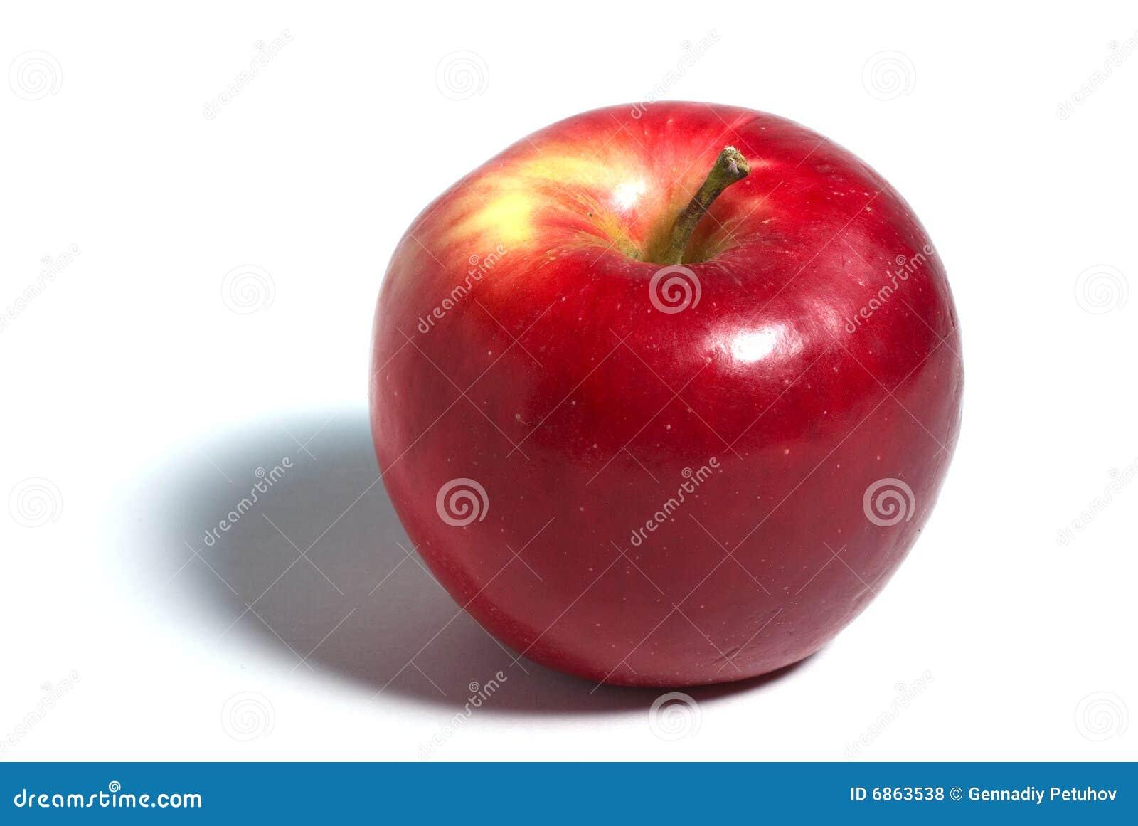 яблоко над красной белизной