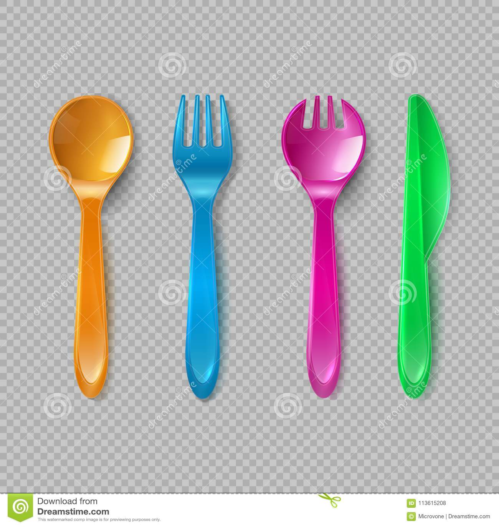 Ягнит пластичный столовый прибор Меньшие ложка, вилка и нож Устранимая посуда, кухня игрушки обедая комплект вектора инструментов