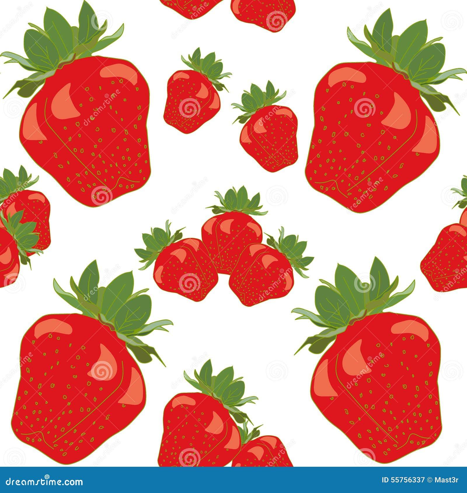 Ягоды плодоовощ клубники безшовное красной красочное