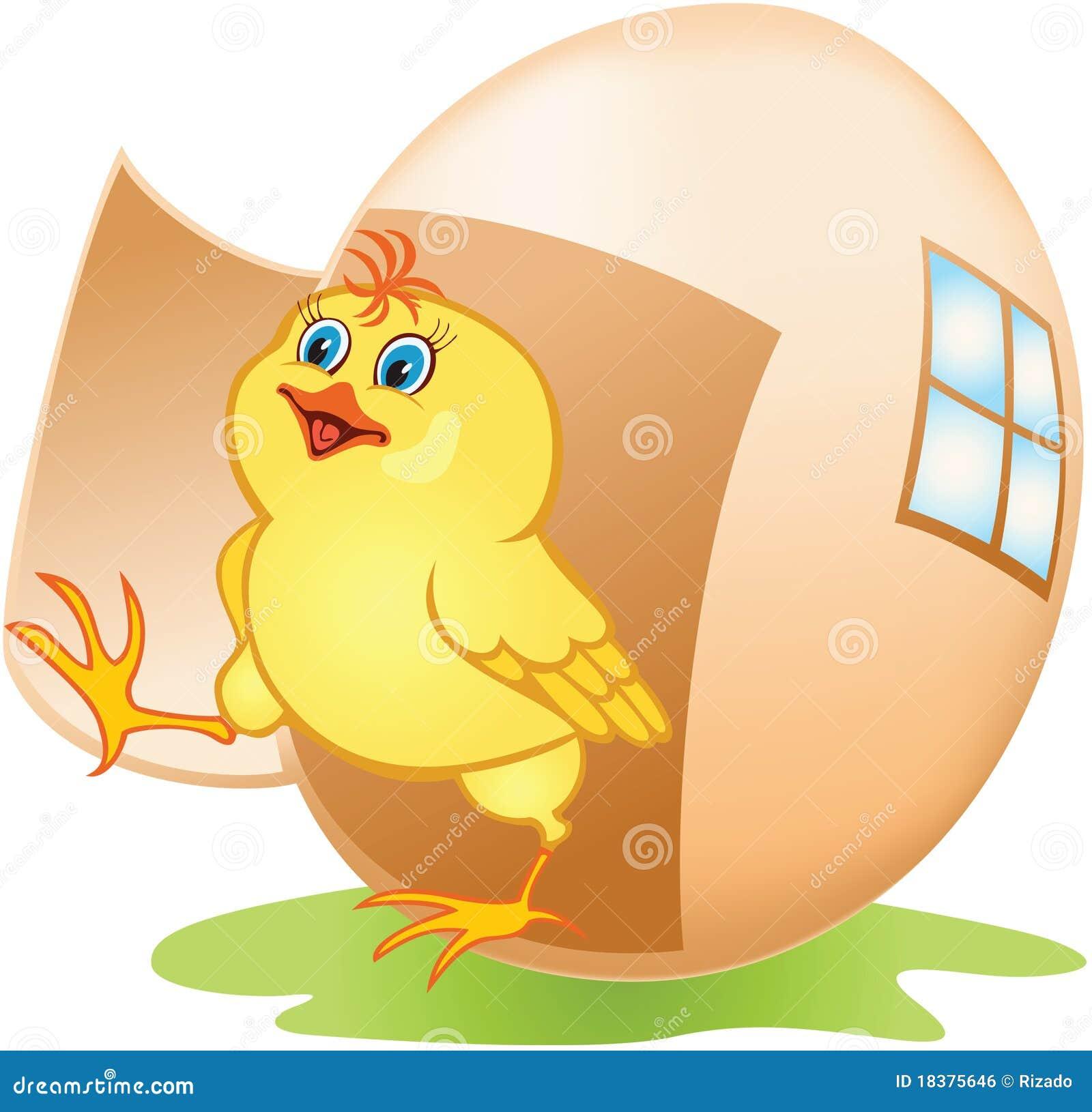 яичко цыпленка шаржа