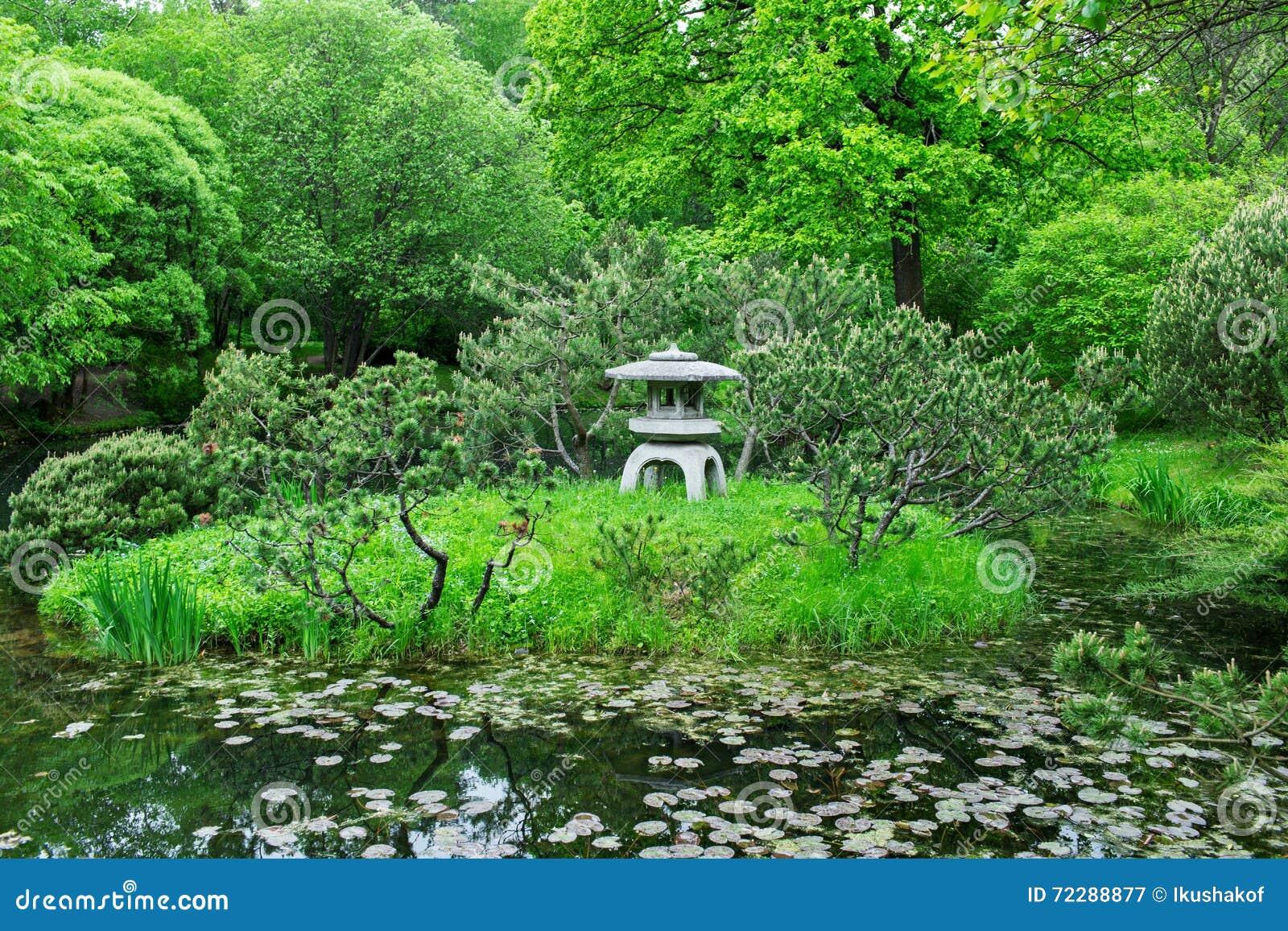 Download японец сада стоковое изображение. изображение насчитывающей садовничать - 72288877