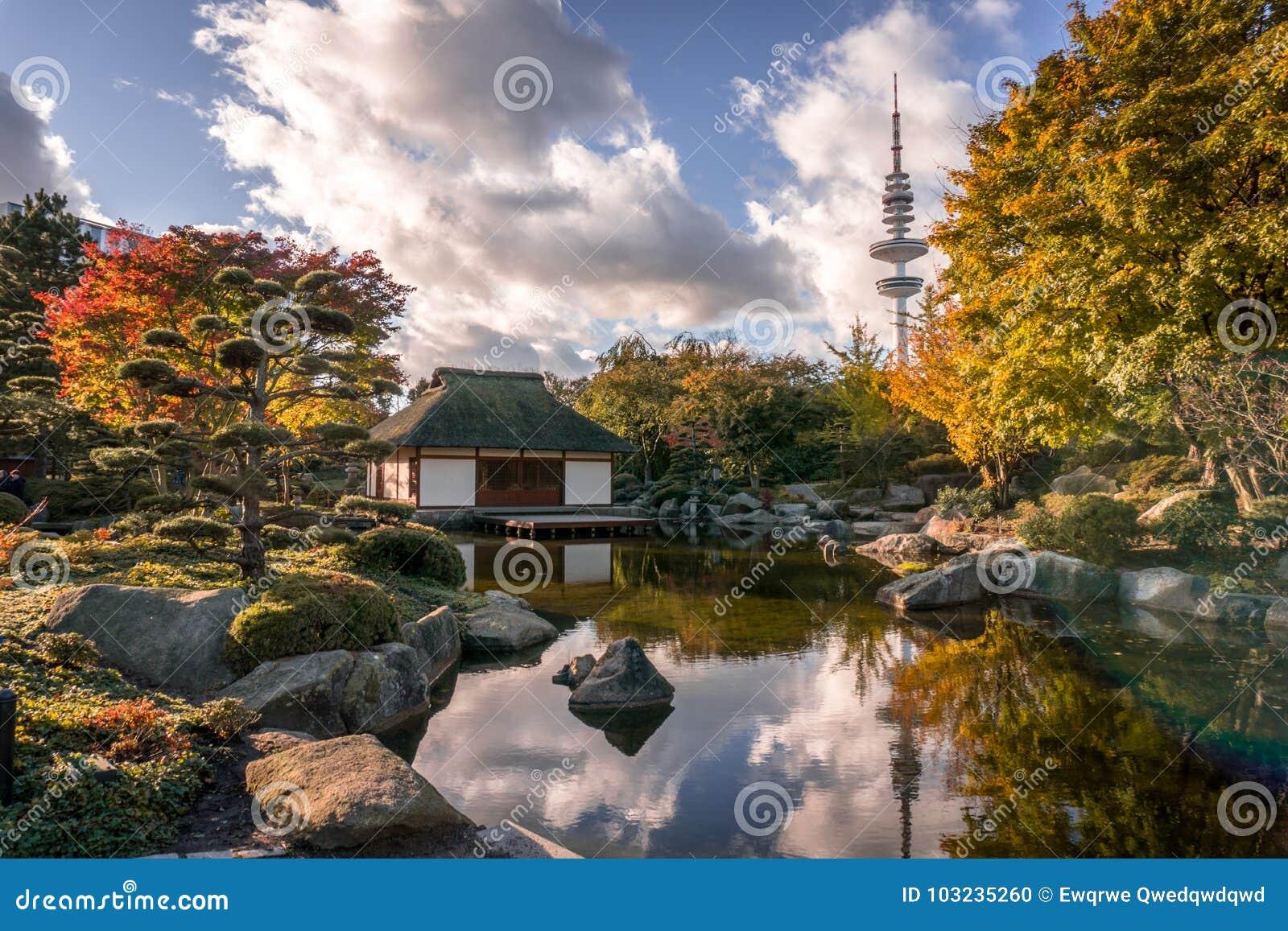 Японский сад Гамбург HDR