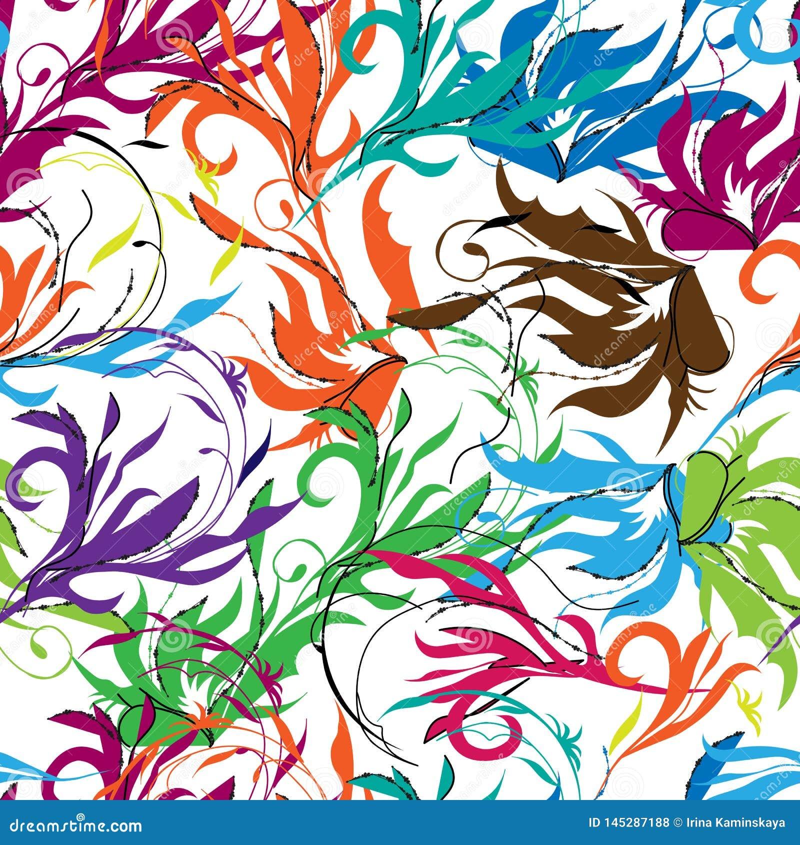 Яркая абстрактная предпосылка, восточный орнамент Флористические кра