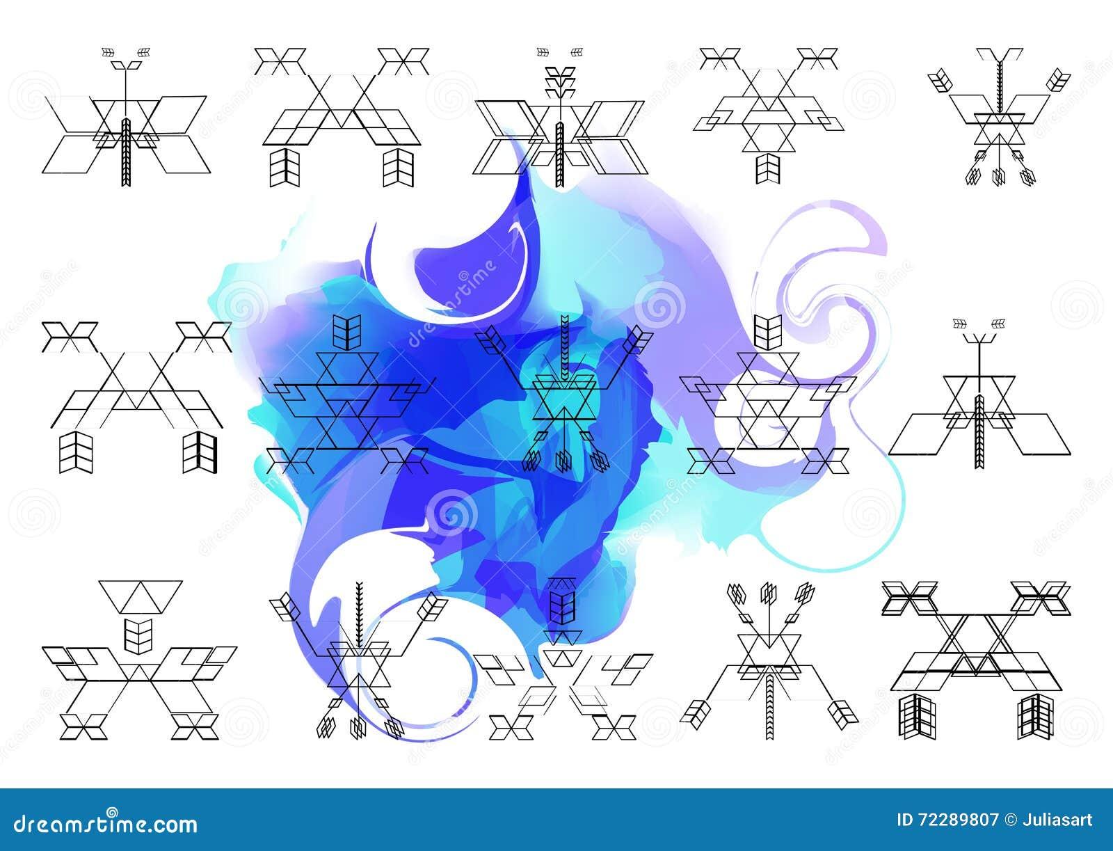 Download Яркая картина священной предпосылки Onwatercolor геометрии Иллюстрация вектора - иллюстрации насчитывающей конспектов, мандала: 72289807
