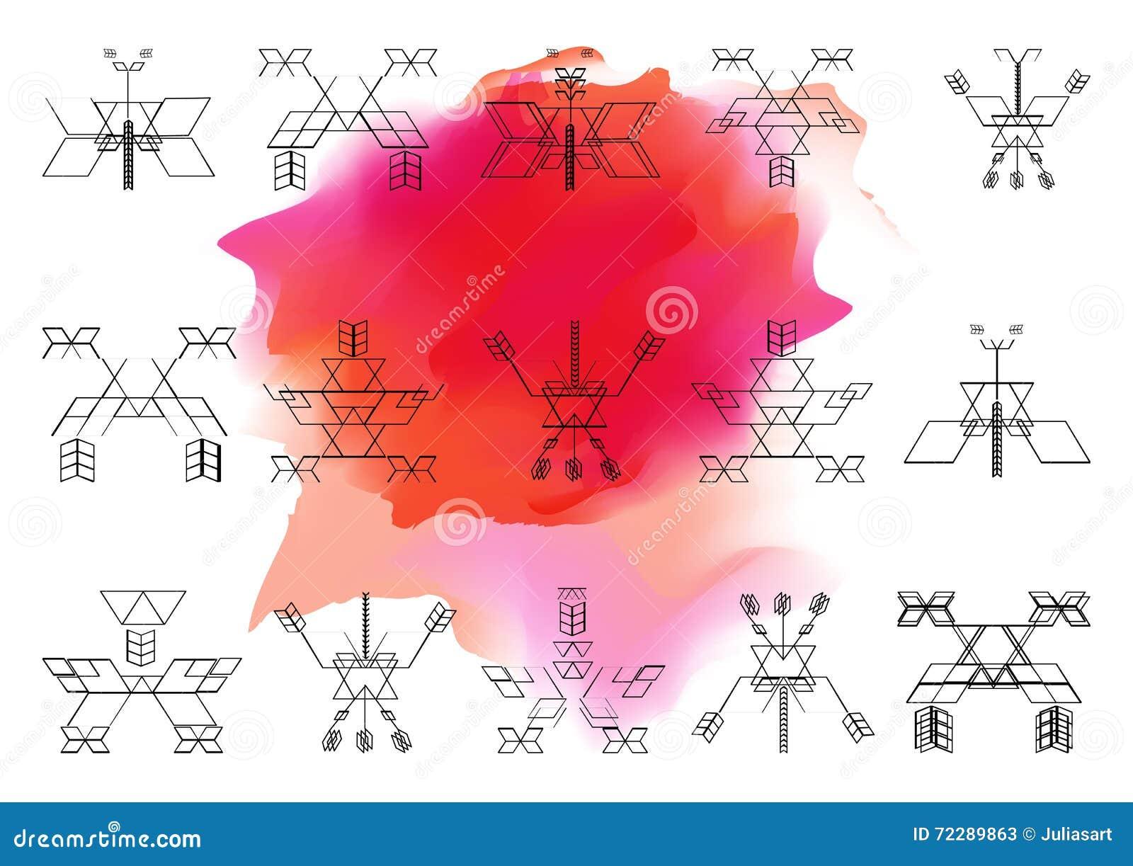 Download Яркая картина священной предпосылки Onwatercolor геометрии Vecto Иллюстрация вектора - иллюстрации насчитывающей творческо, форма: 72289863