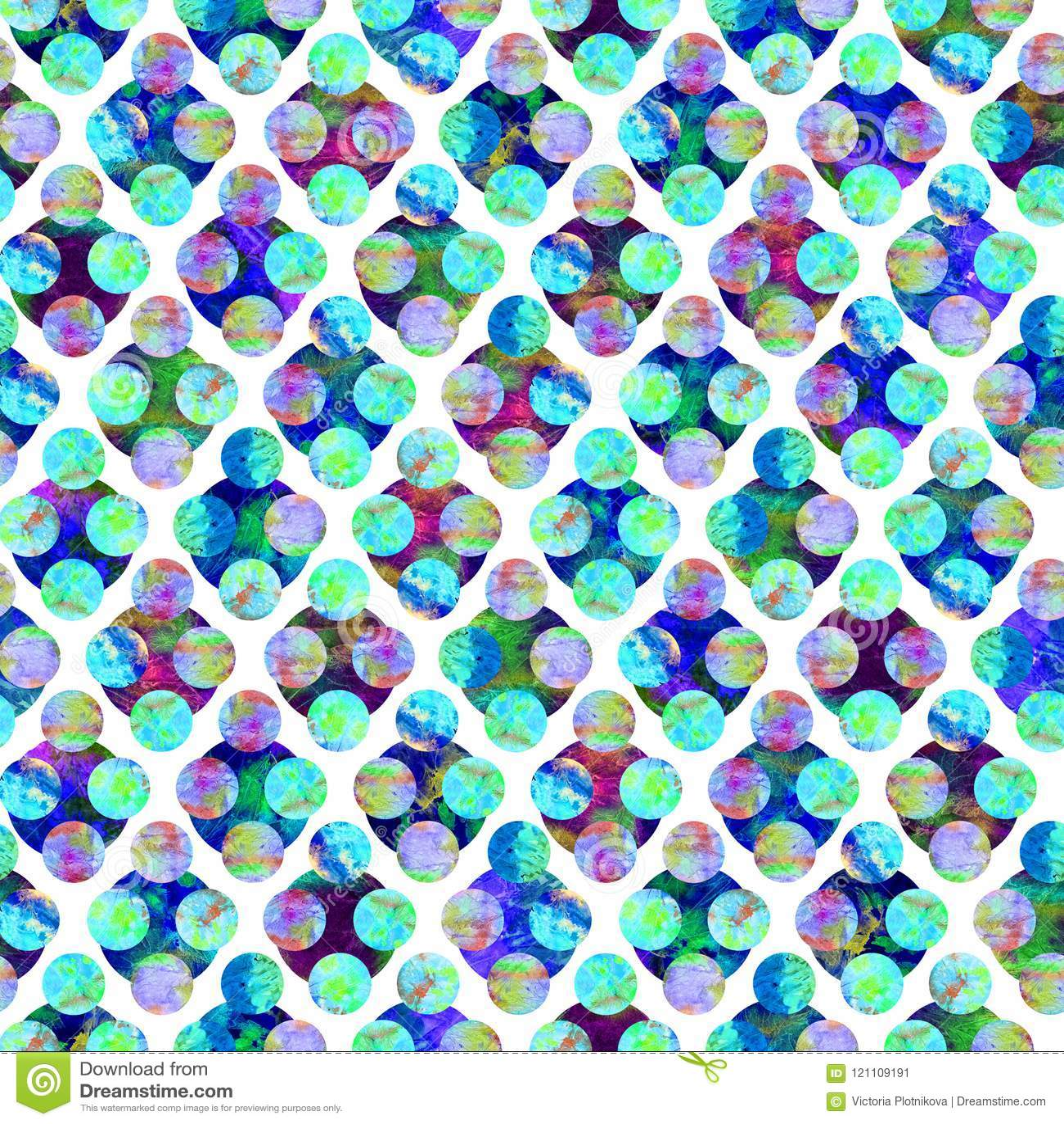 Яркие круги формируя grunge косоугольника абстрактный красочный брызгают дизайн в сини, зеленый цвет картины акварели текстуры бе
