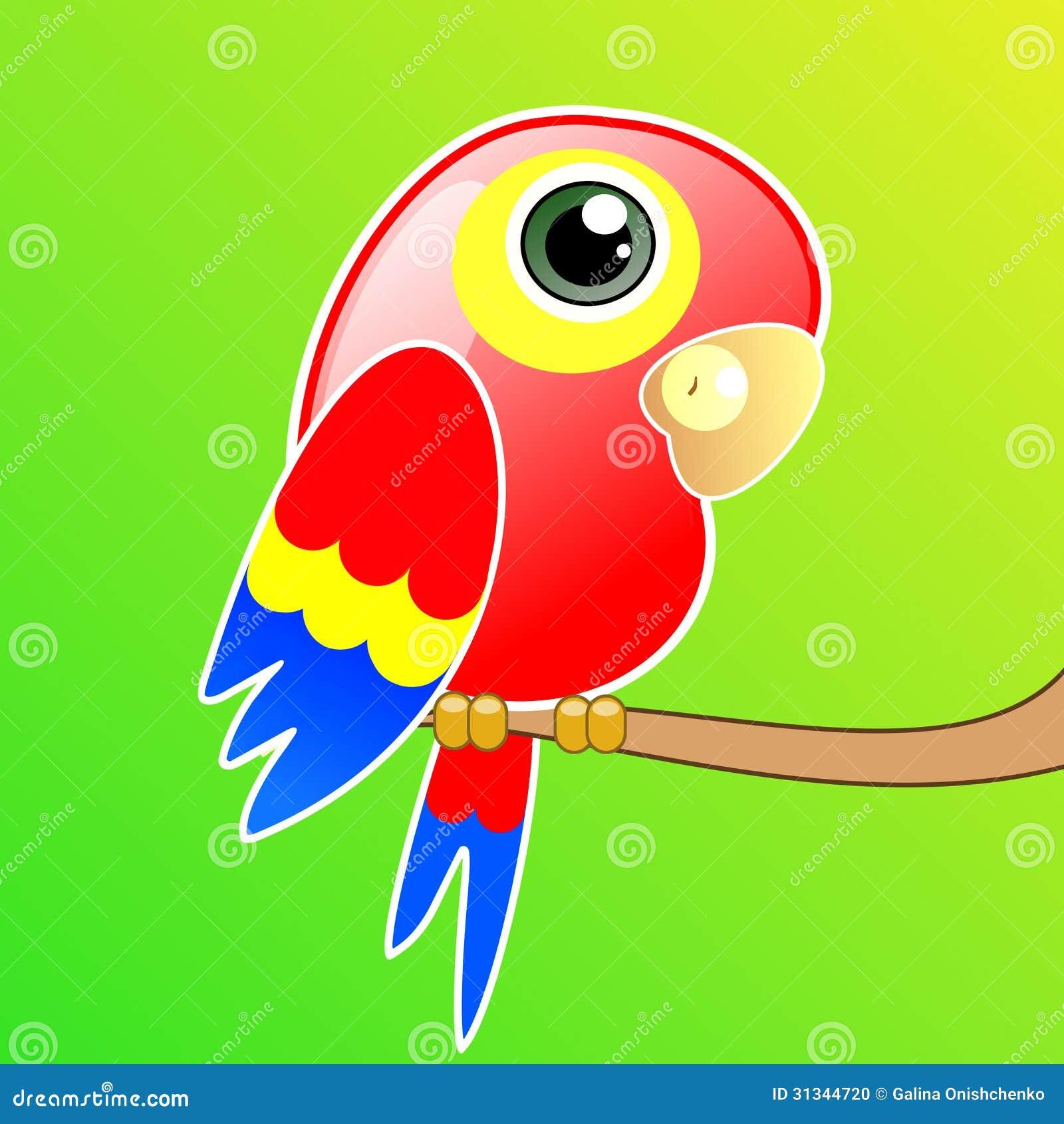 Попугайчик картинки нарисованные