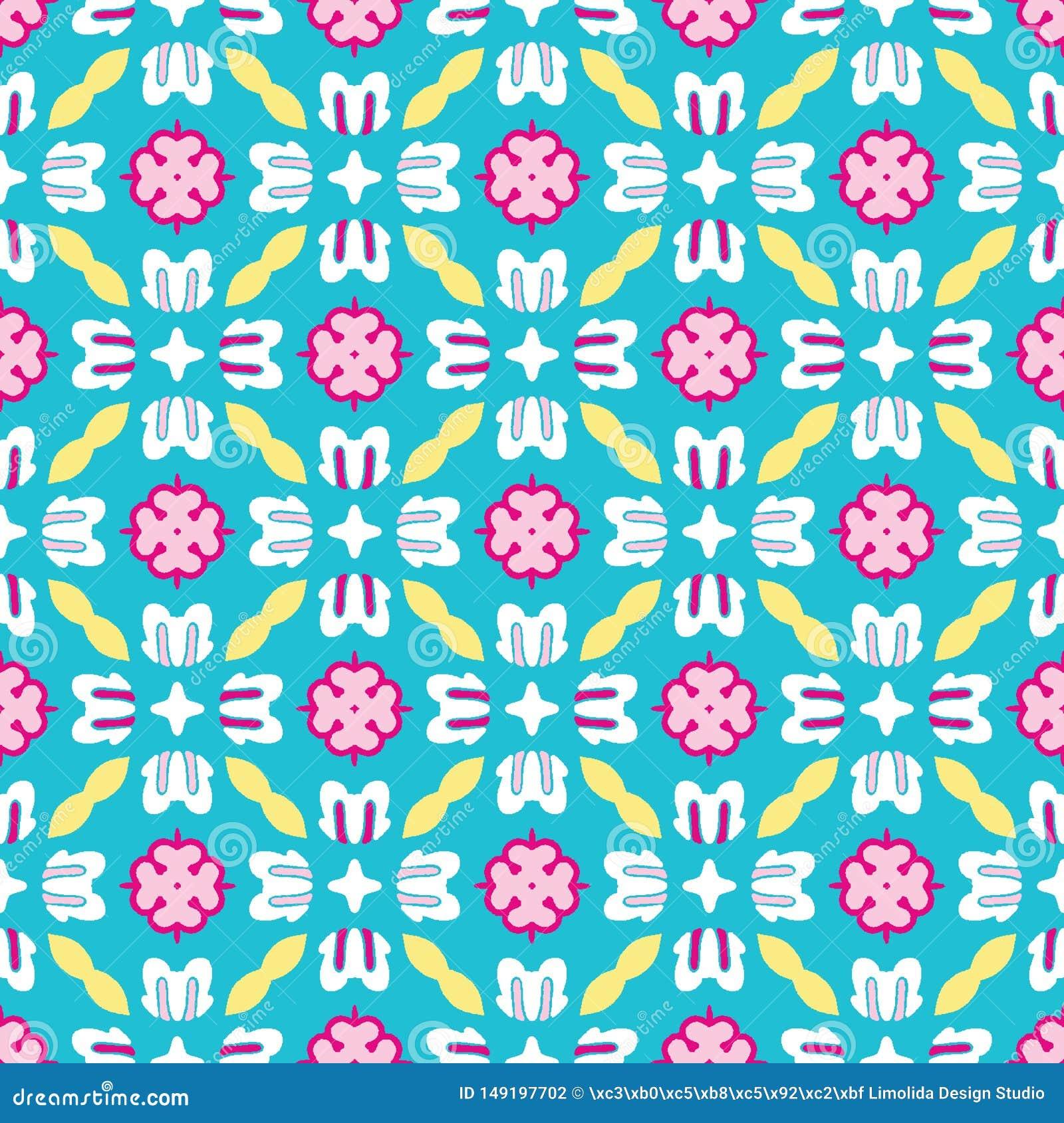Яркий цветок маргаритки лета зацветает безшовная картина vectpr Стилизованное геометрическое флористическое на всем печать Женств