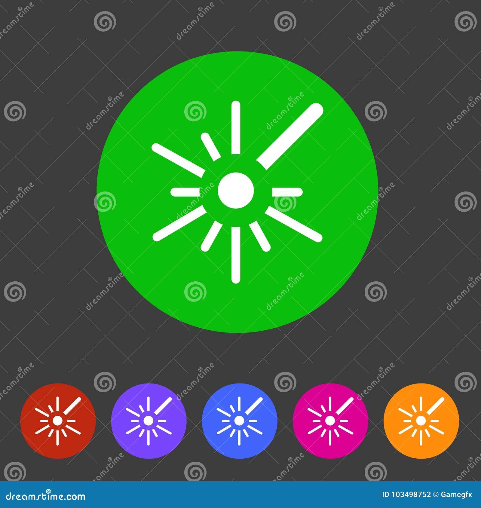 Ярлык логотипа символа знака сети значка лазера плоский
