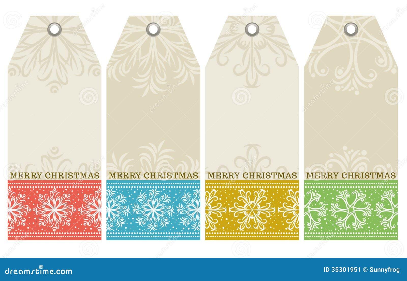 Ярлыки рождества с текстом снежинок и желаний,