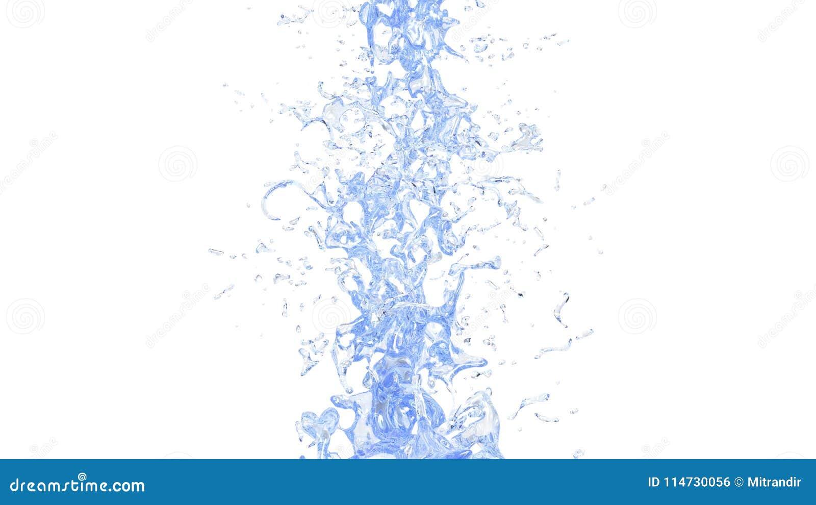 Ясное свежее открытое море - вертикальный поток