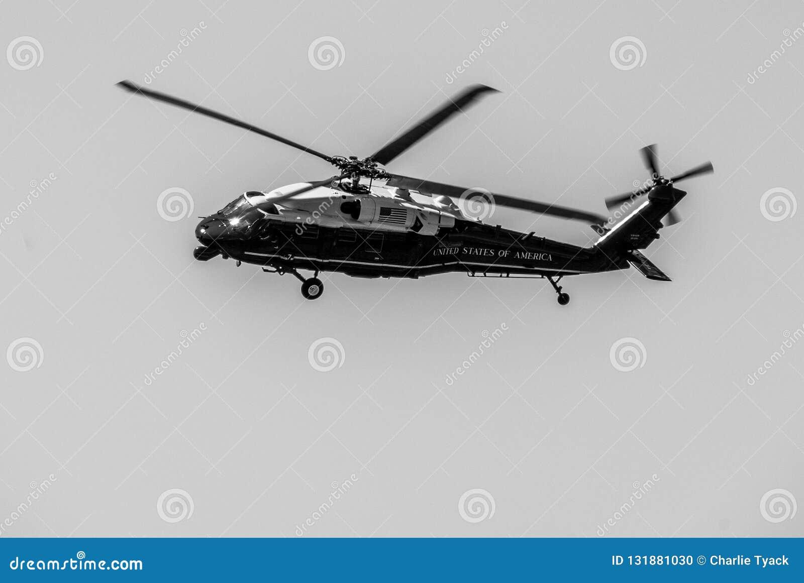 Ястреб морского пехотинца одного - президентский переход - VH-60N белый