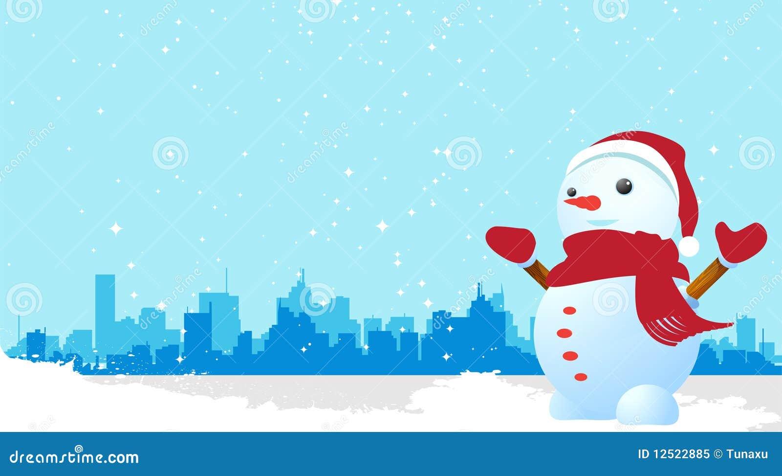 冬天动画背景图片
