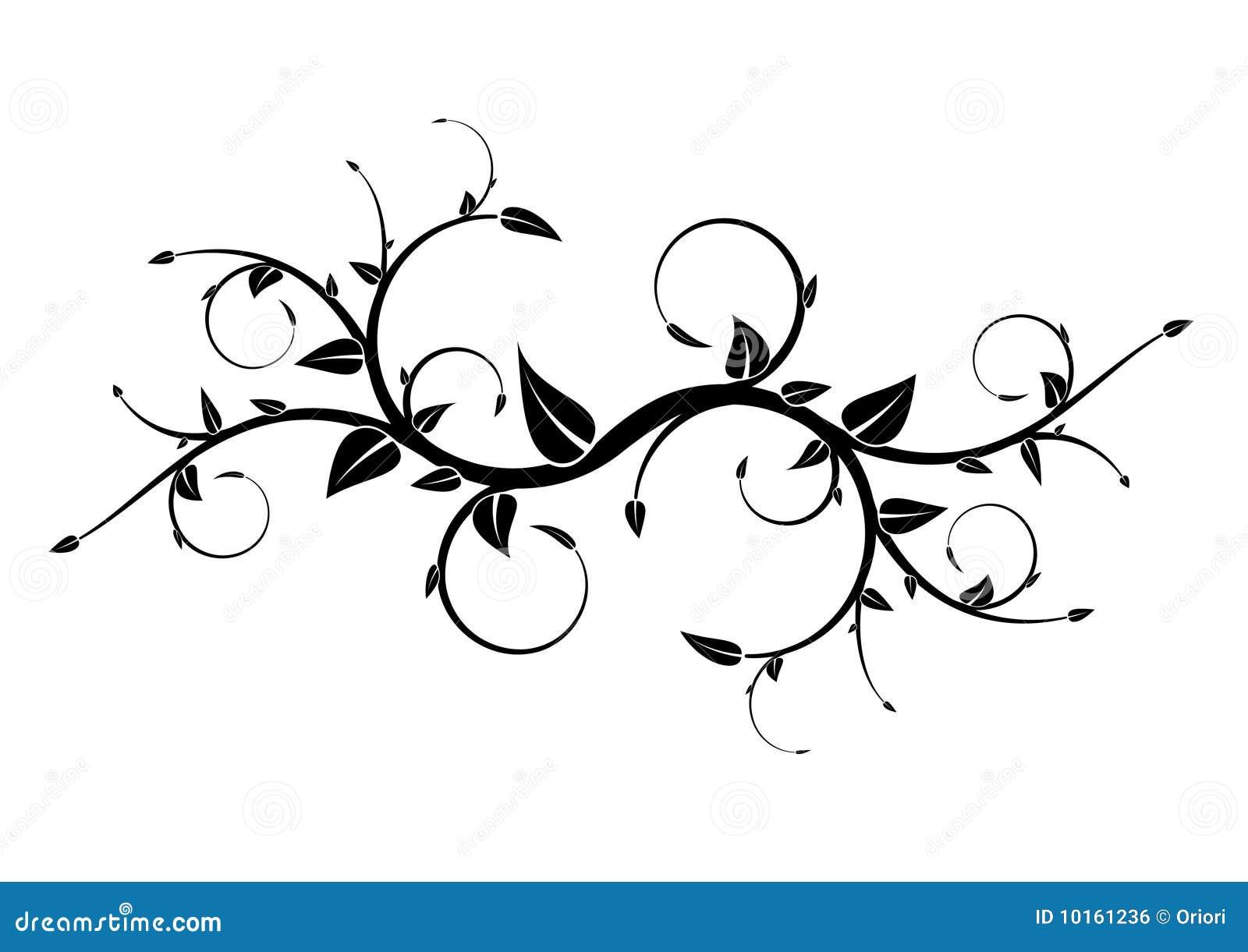 叶子纹身花刺