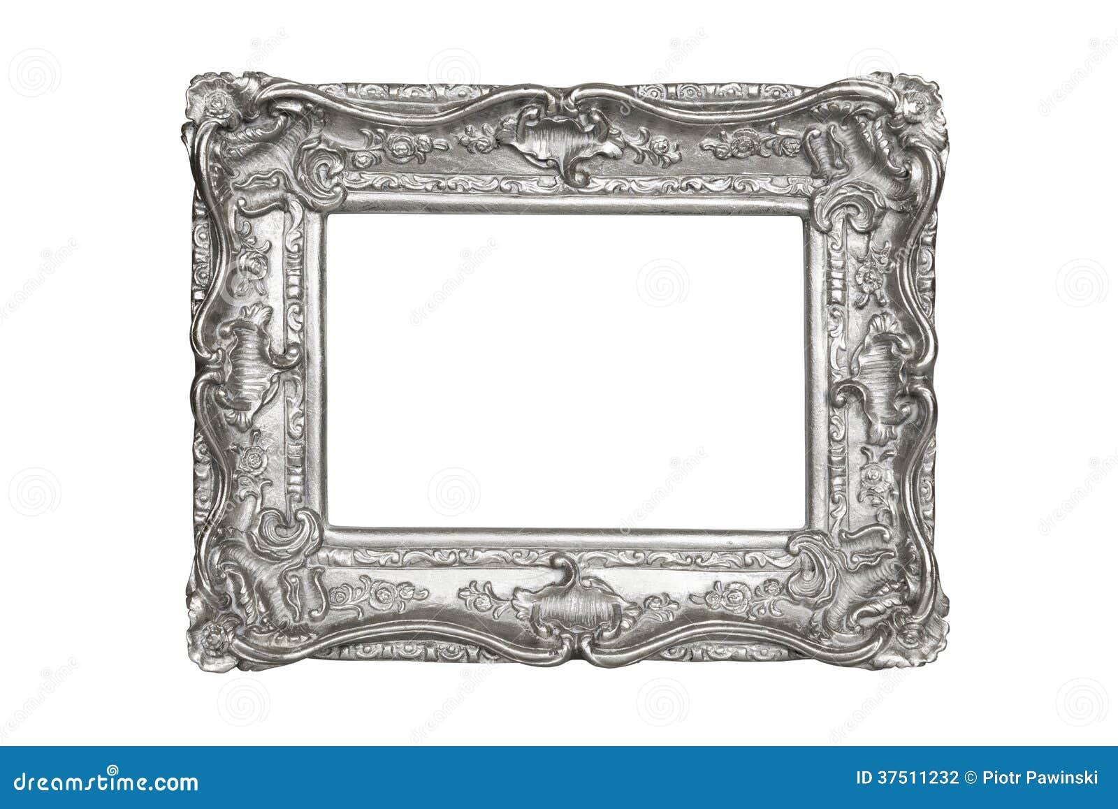 银被雕刻的画框图片