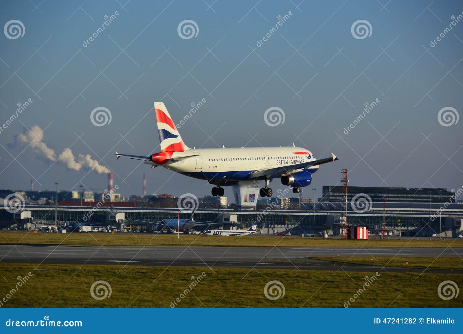 英国航空公司飞机着陆