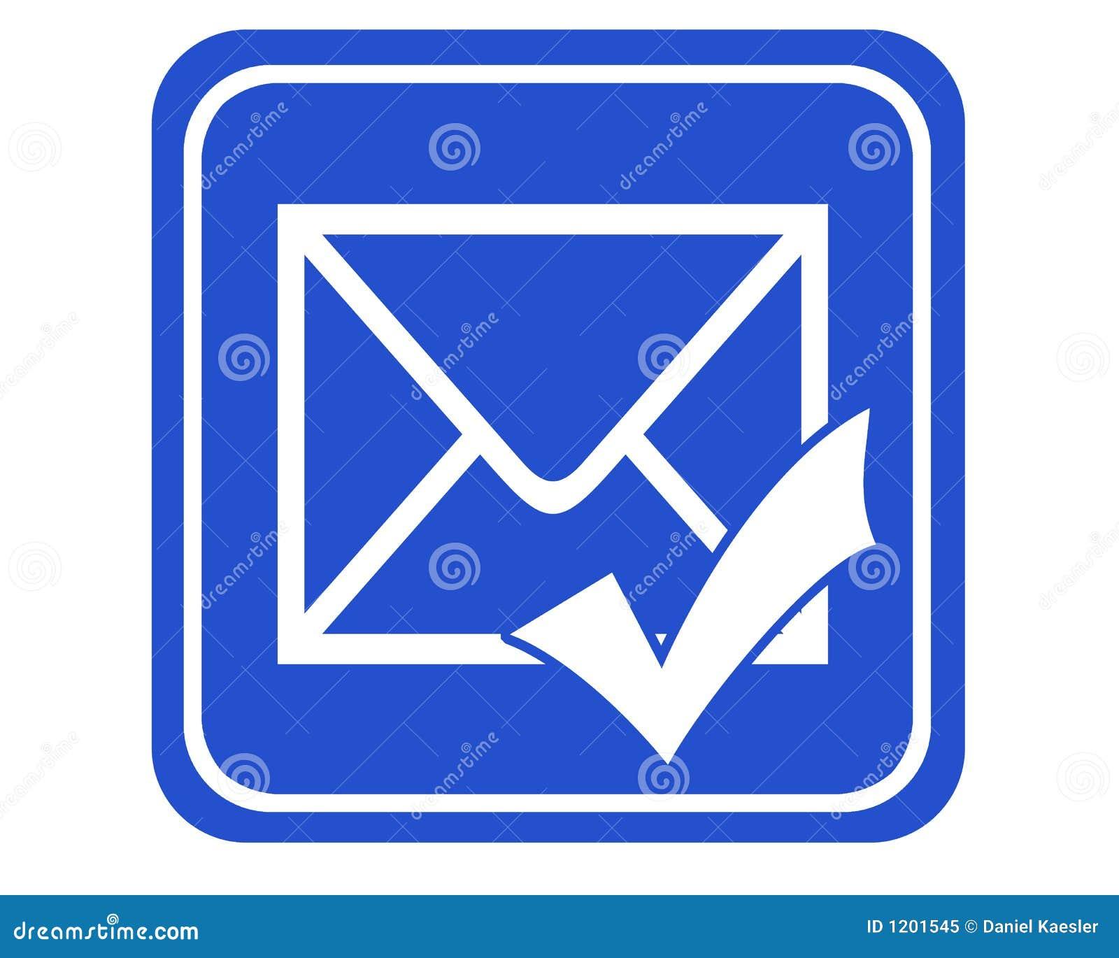 被发送的蓝色 图标 邮件象征