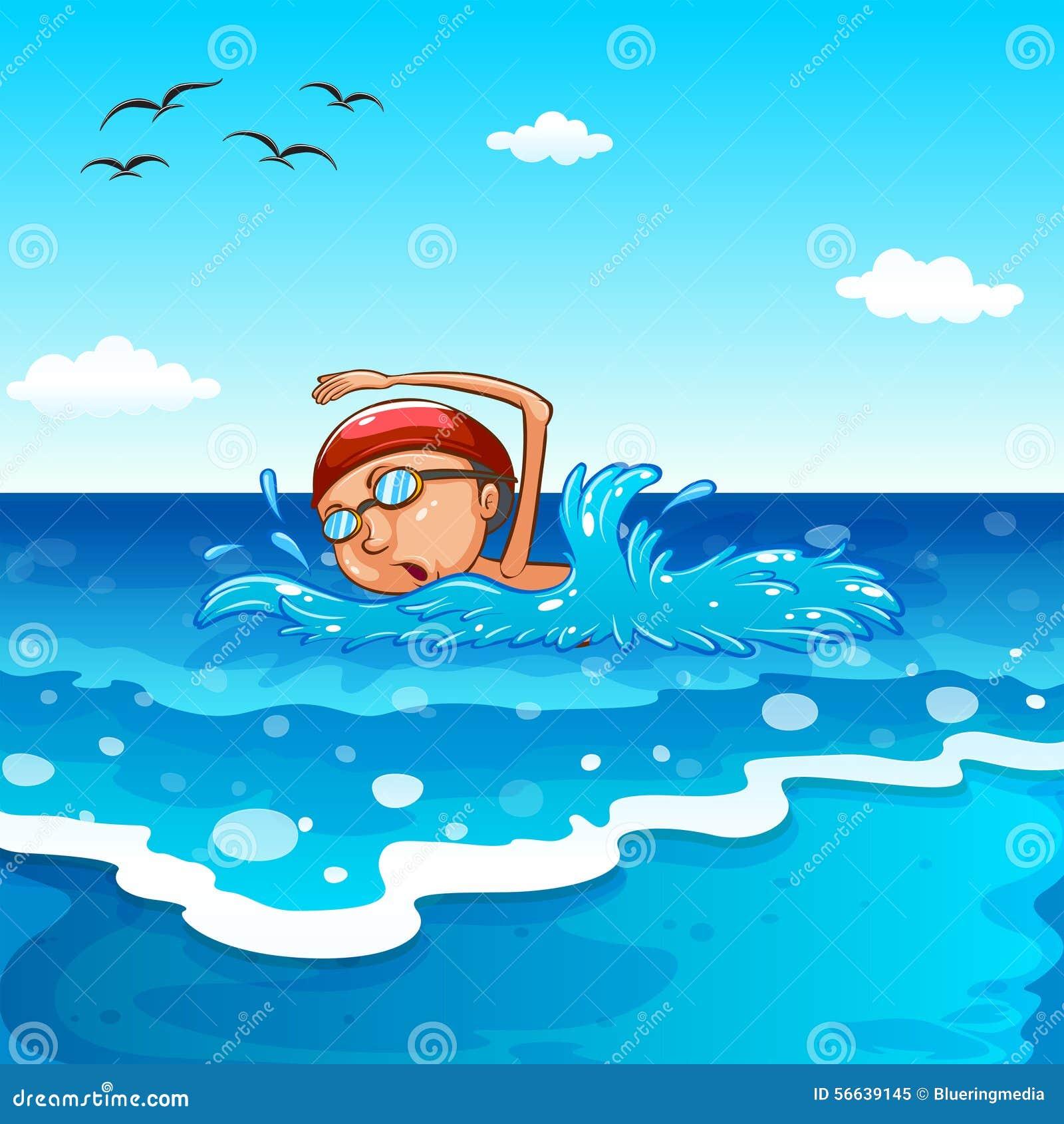 自由游卡通_动漫游泳的图片_排行榜大全