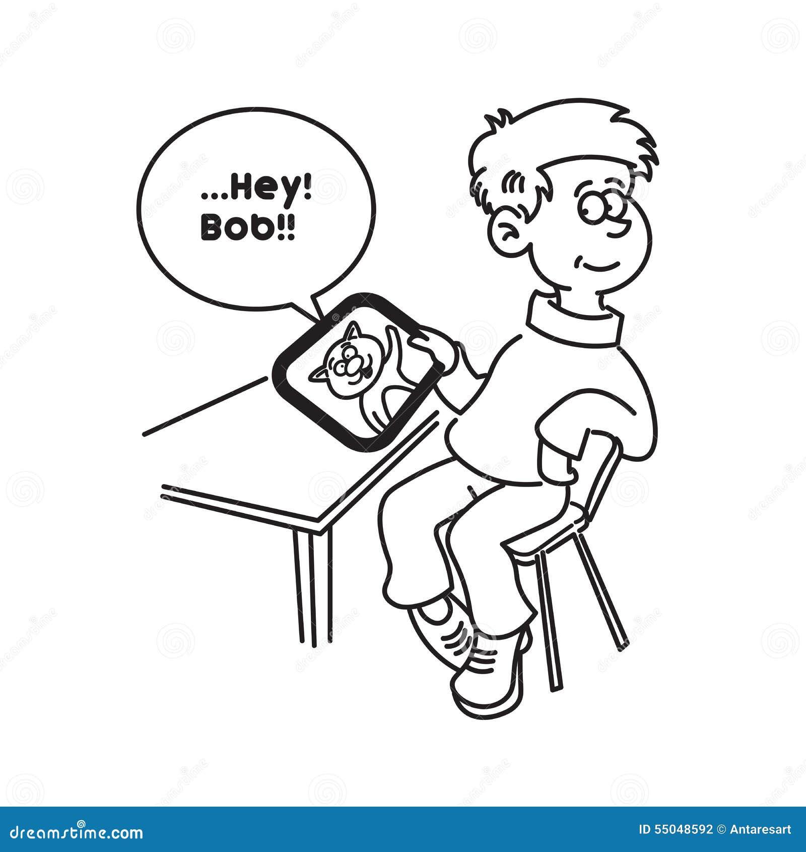 单体椅子手绘线稿图