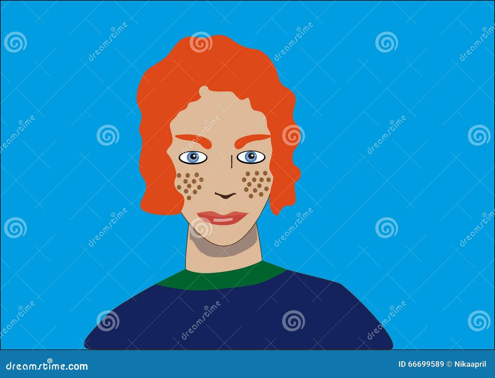 有雀斑的红色头发男孩图片