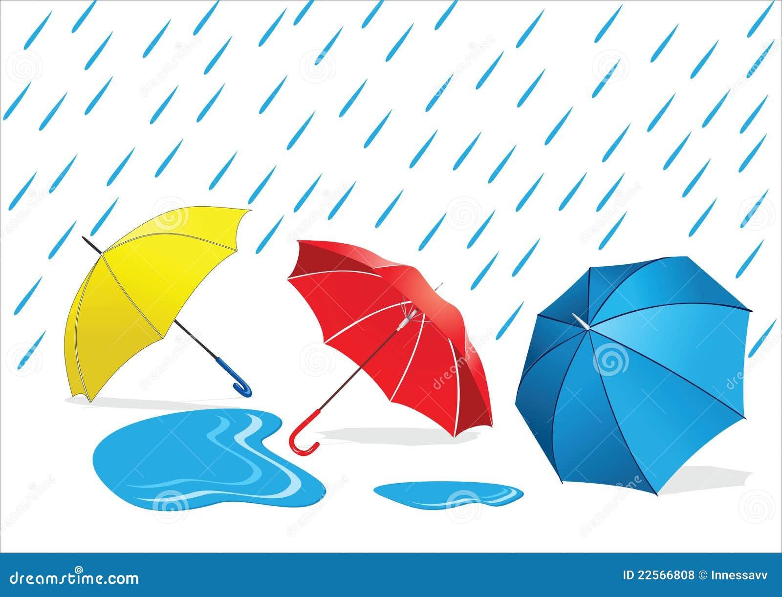 雨伞设计手绘图