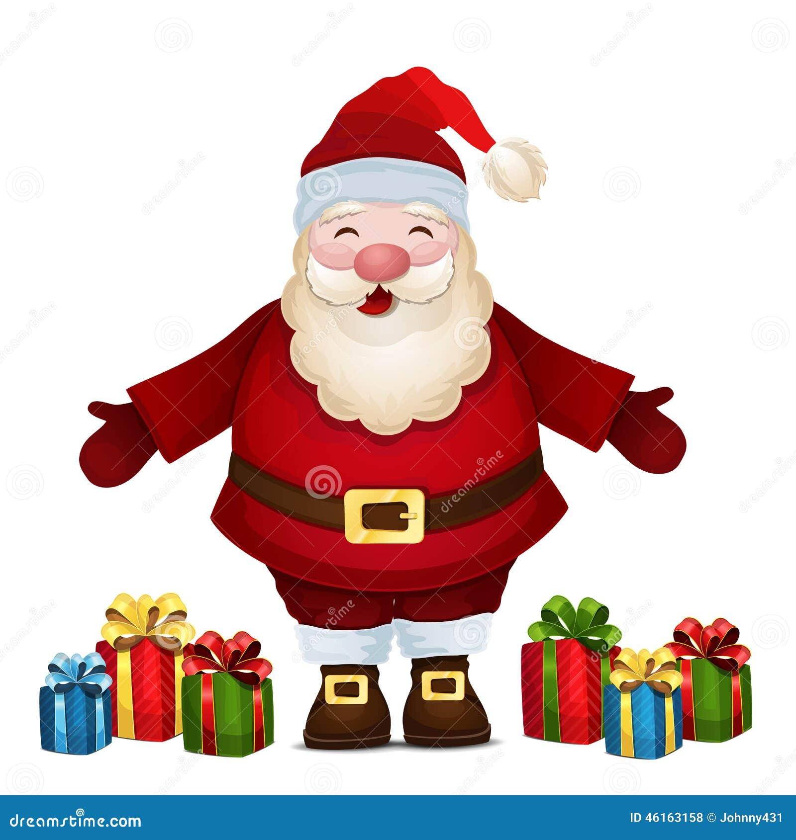 与礼物的快乐的圣诞老人