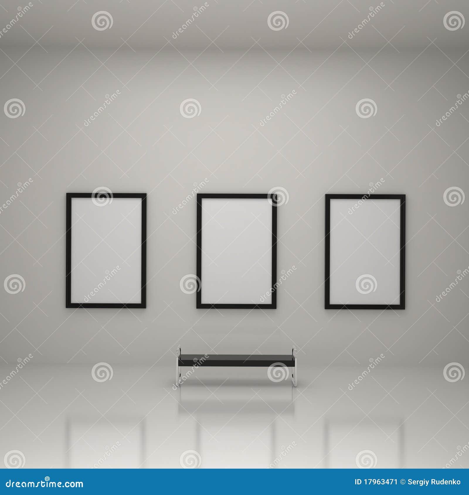 在绘画里面的美术画廊图片