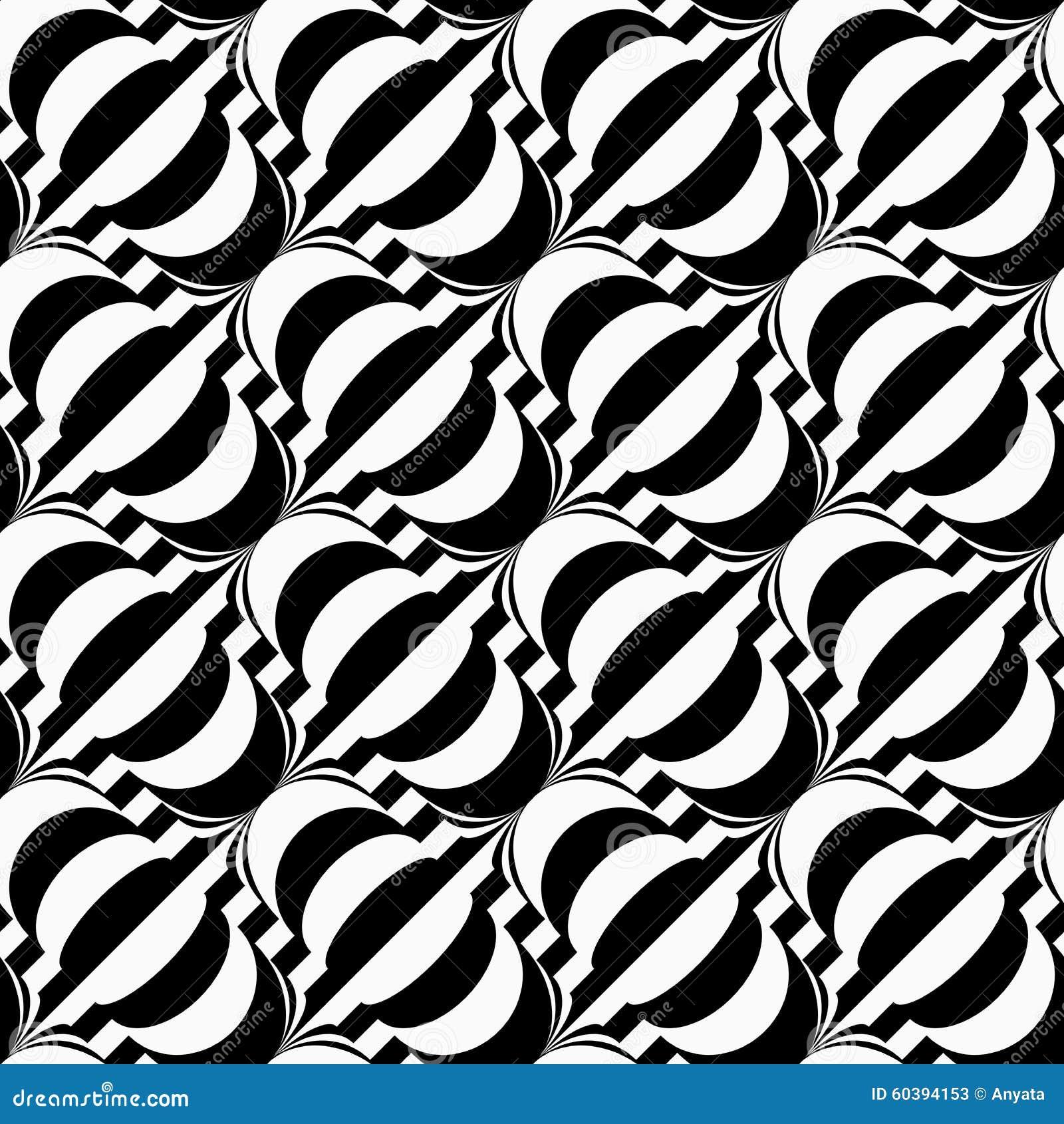 在条纹的黑白对角电灯泡 无缝的时髦的几何背景 抽象现代模式 平展