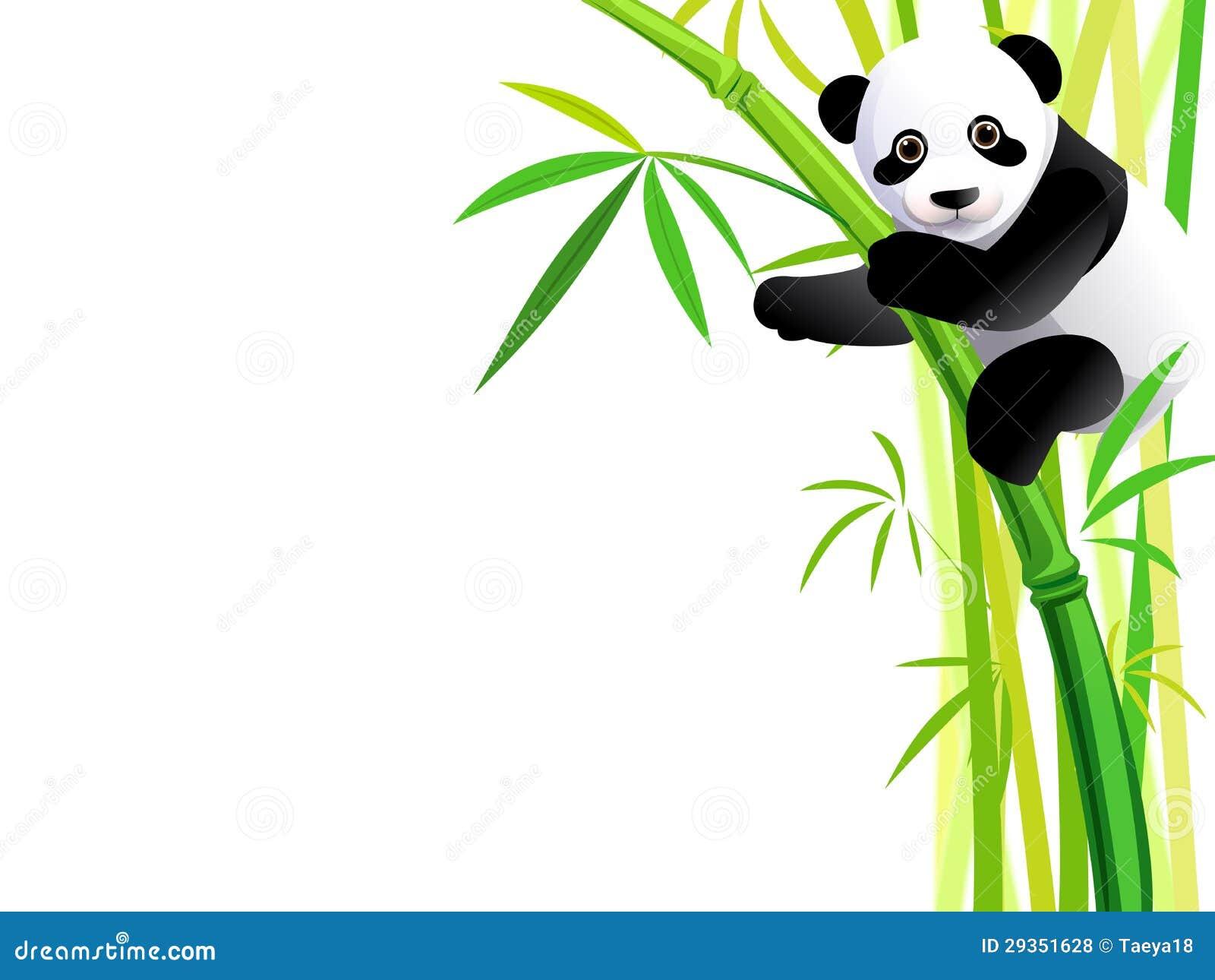 在竹子的熊猫 免版税库存照片