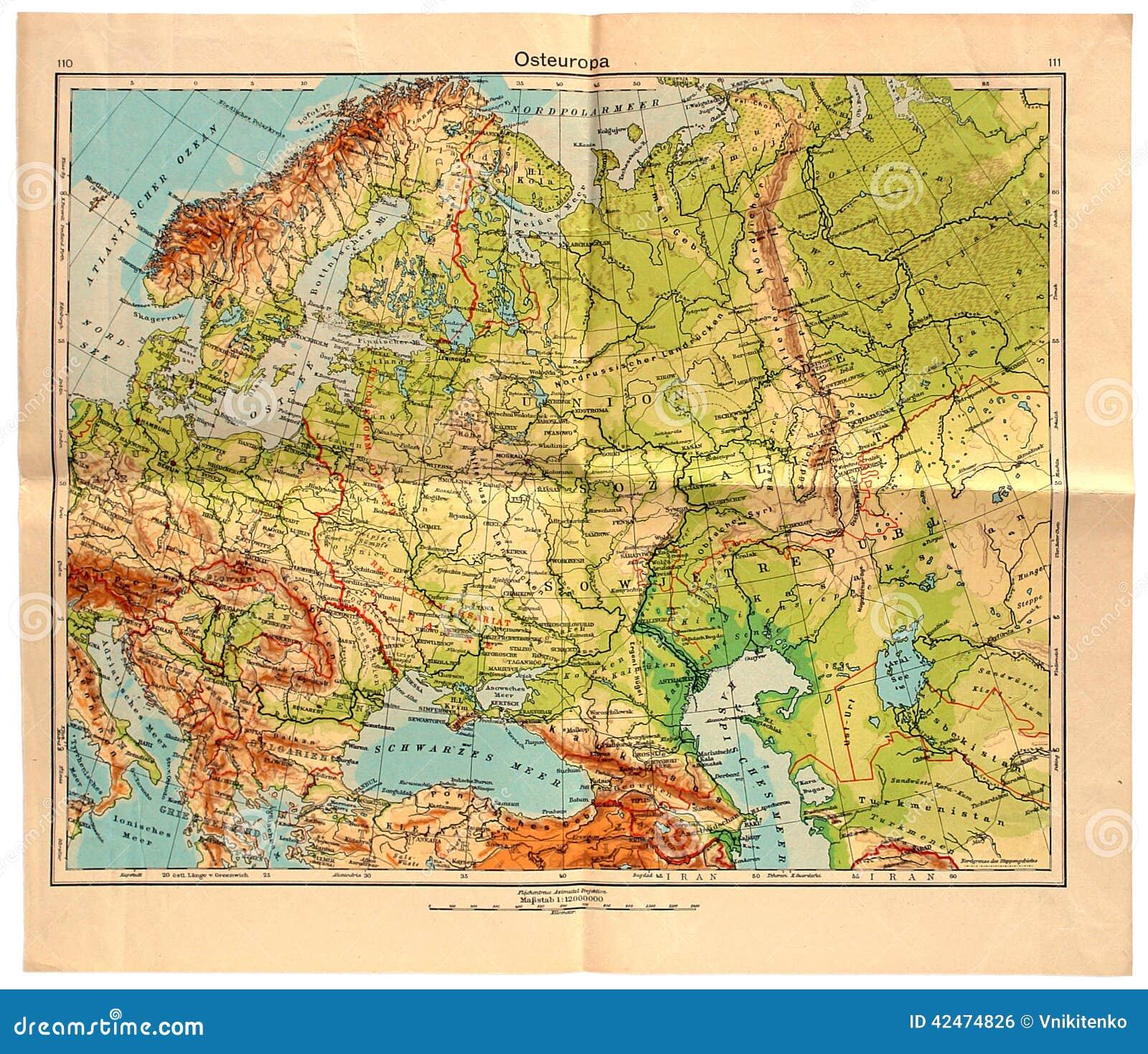 在1943年东欧老地图