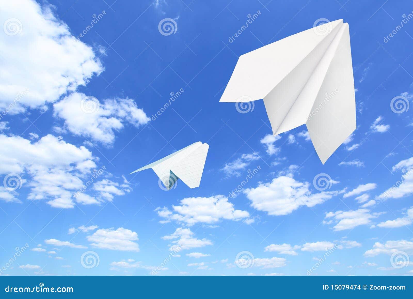 纸飞机 库存图片 - 图片