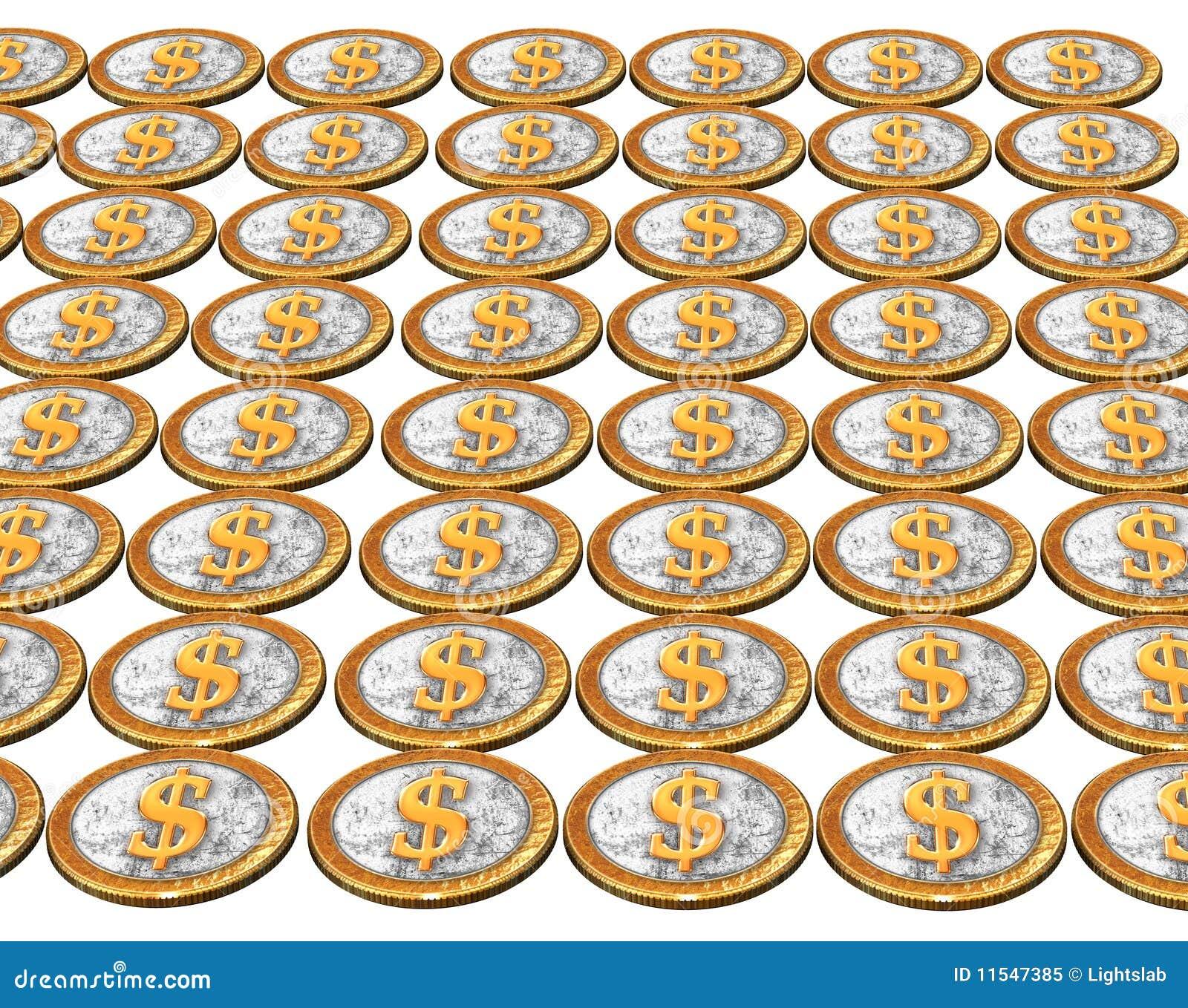 铸造空白的美元金黄美国