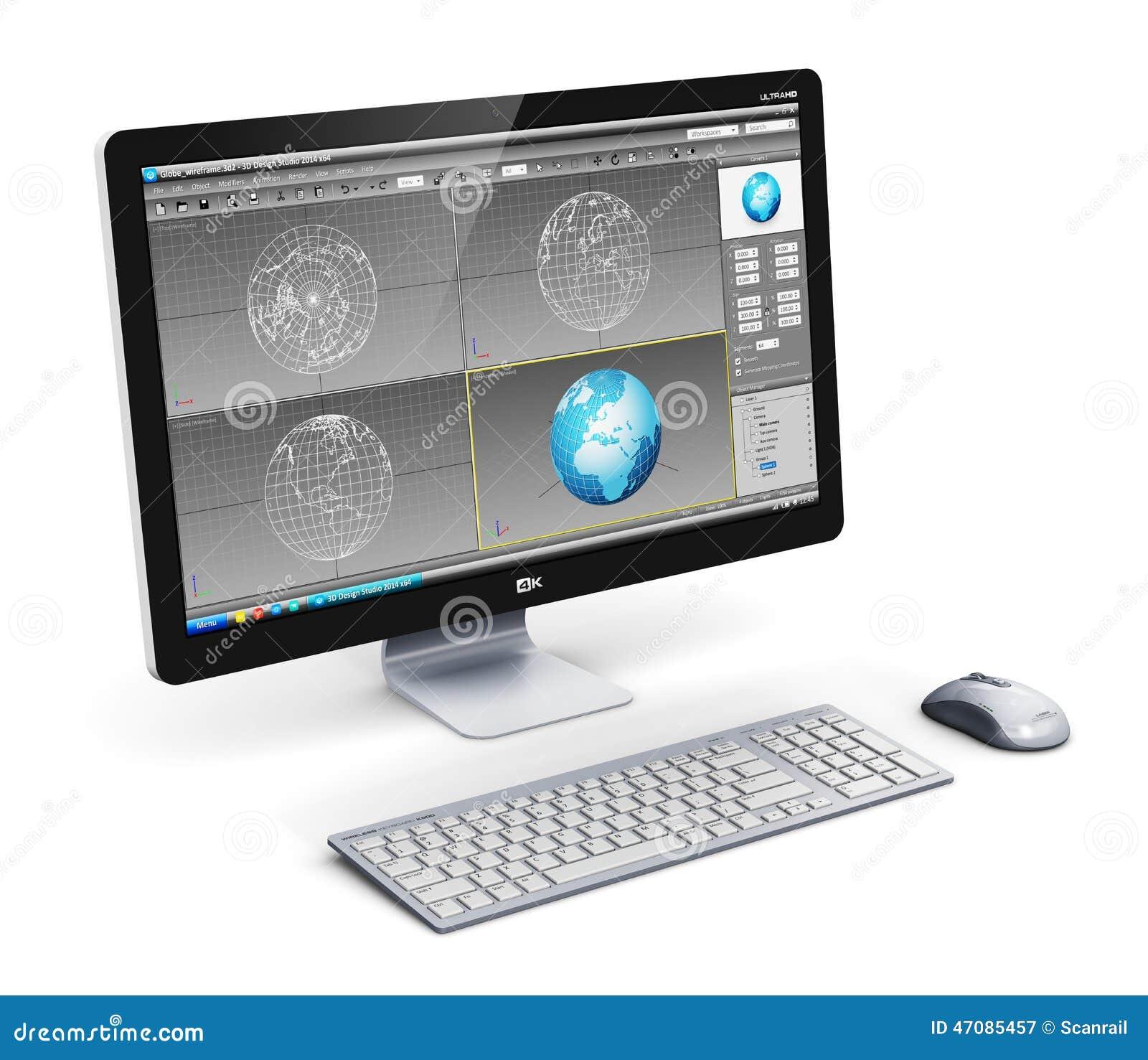 专业台式计算机工作站图片