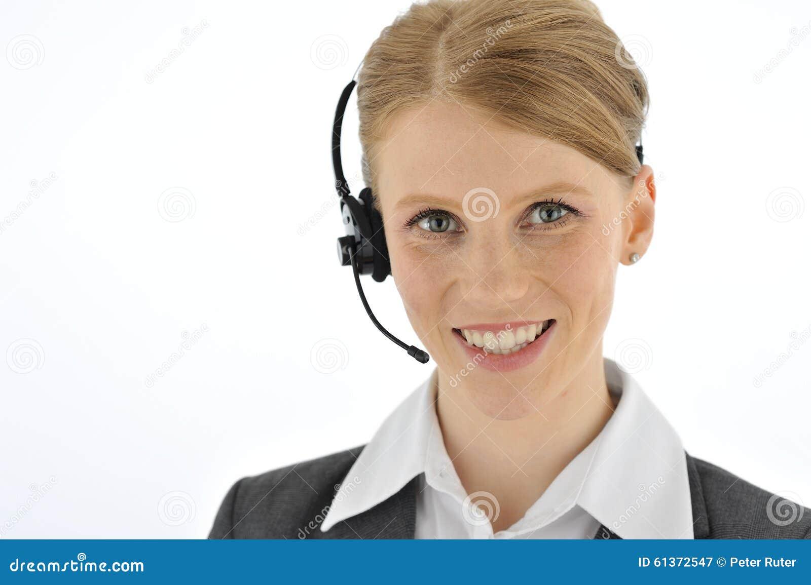 专业微笑的电话接线员