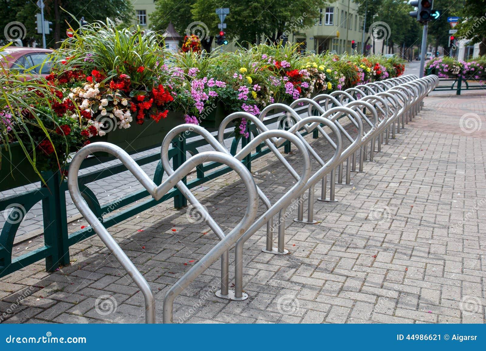 自行车停车场 库存照片