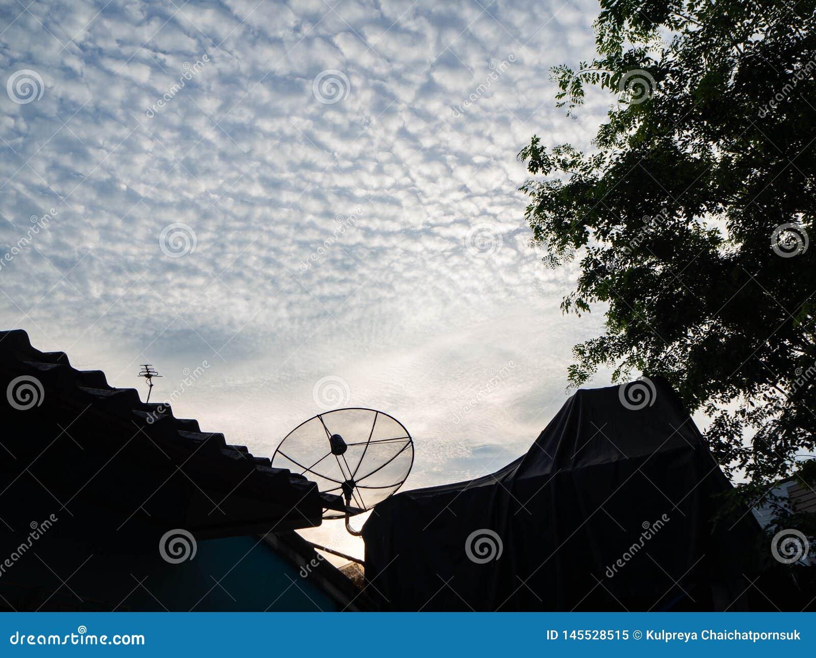 ฺBlue sky cloud garden home,thailand