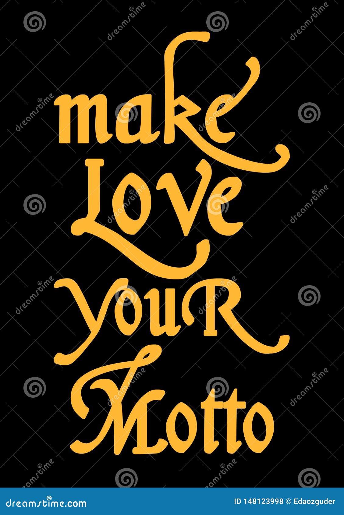 'faça amam tipografia da sua divisa ', gráficos do t-shirt