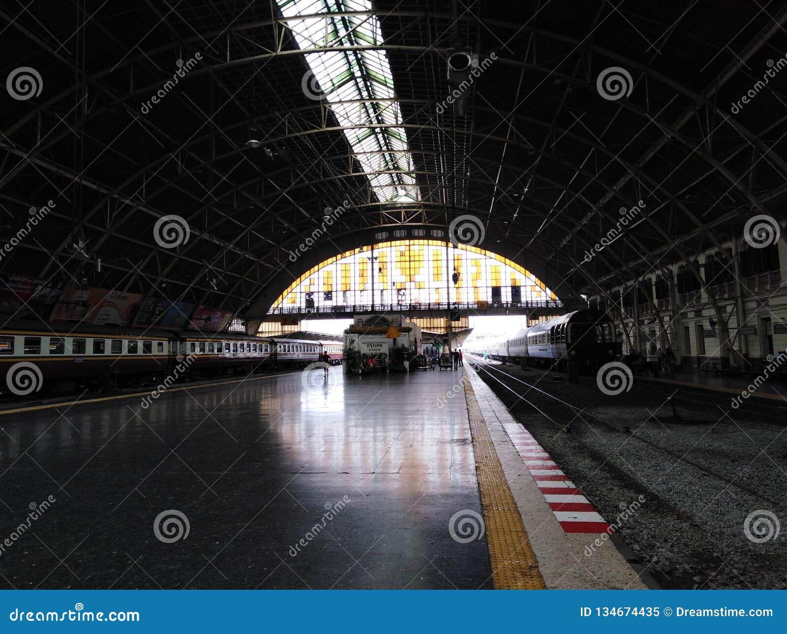 'Hua Lampong 'o estación de tren principal en Bangkok