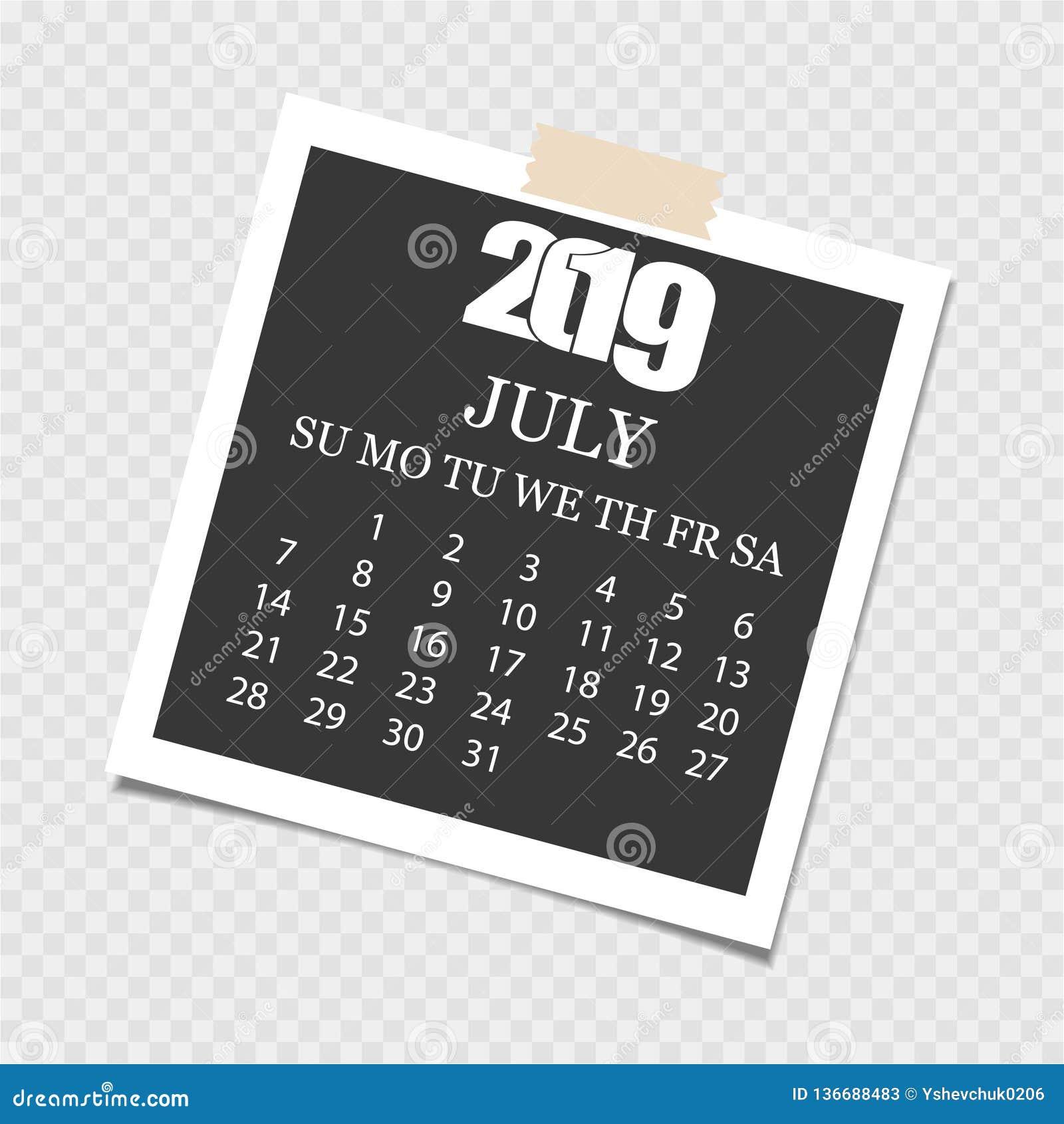 'ÑŒCalendar 2019 del ‡ Ð°Ñ de ПÐ?Ñ Rasgue el calendario Fondo gris Ilustración del vector