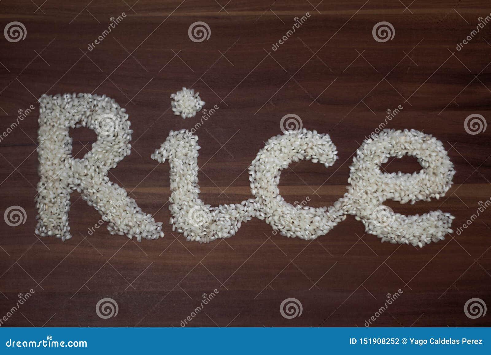 'Reises geschrieben mit Reis